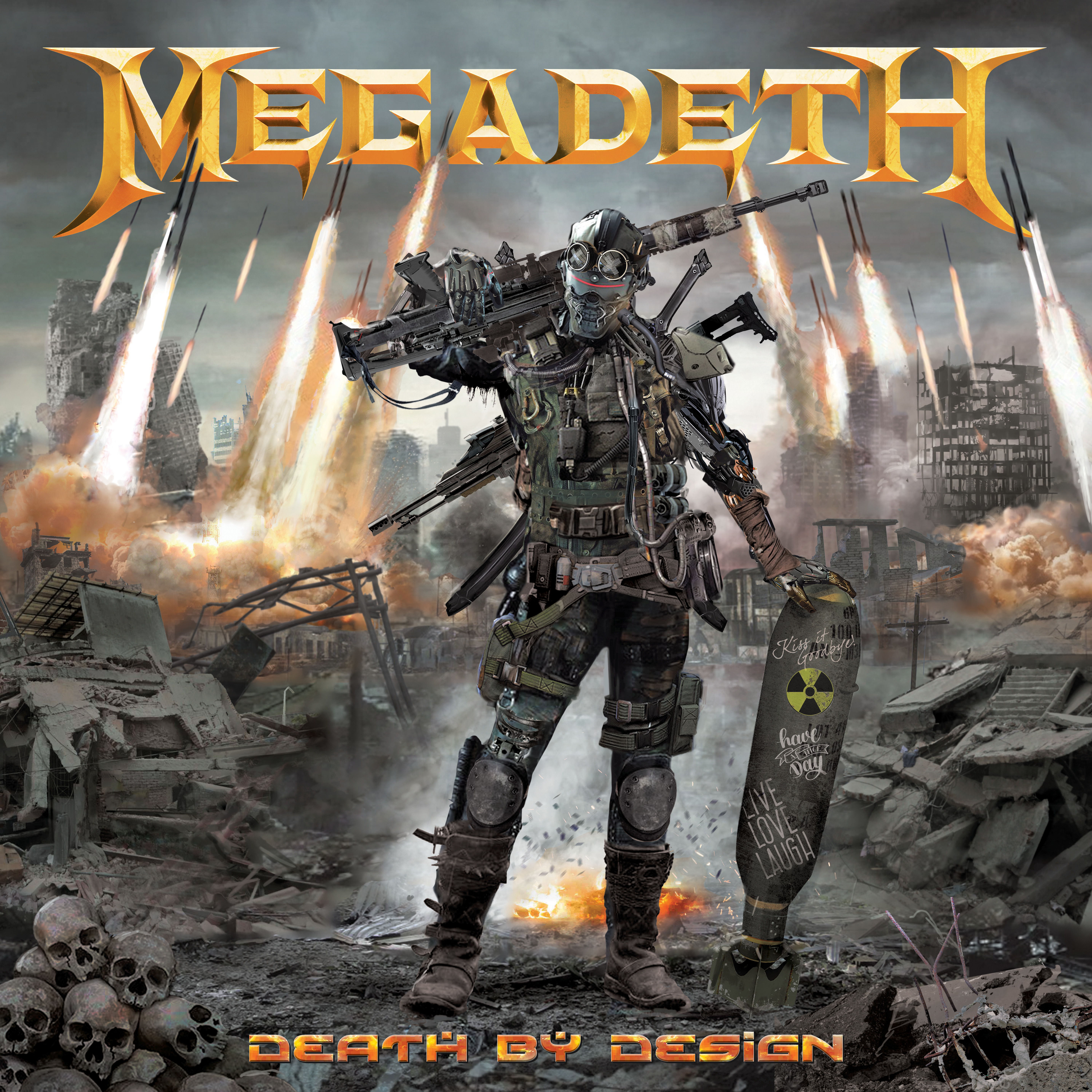 MEGADETH DEATH BY DESIGN HC WITH VINYL (MR)