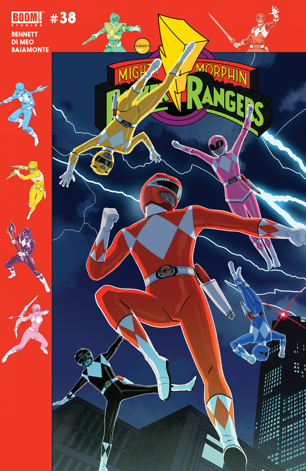 MIGHTY MORPHIN POWER RANGERS #38 PREORDER GIBSON VAR