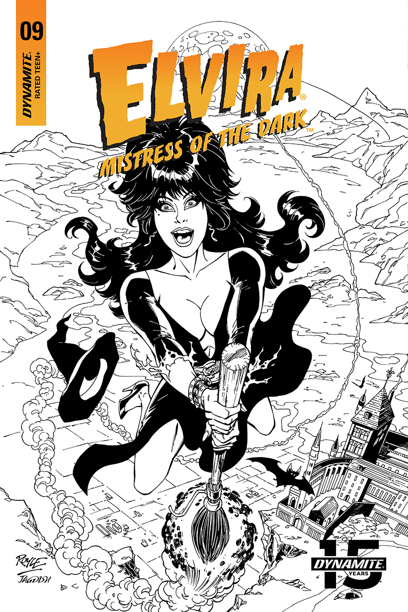ELVIRA MISTRESS OF DARK #9 20 COPY ROYLE B&W INCV