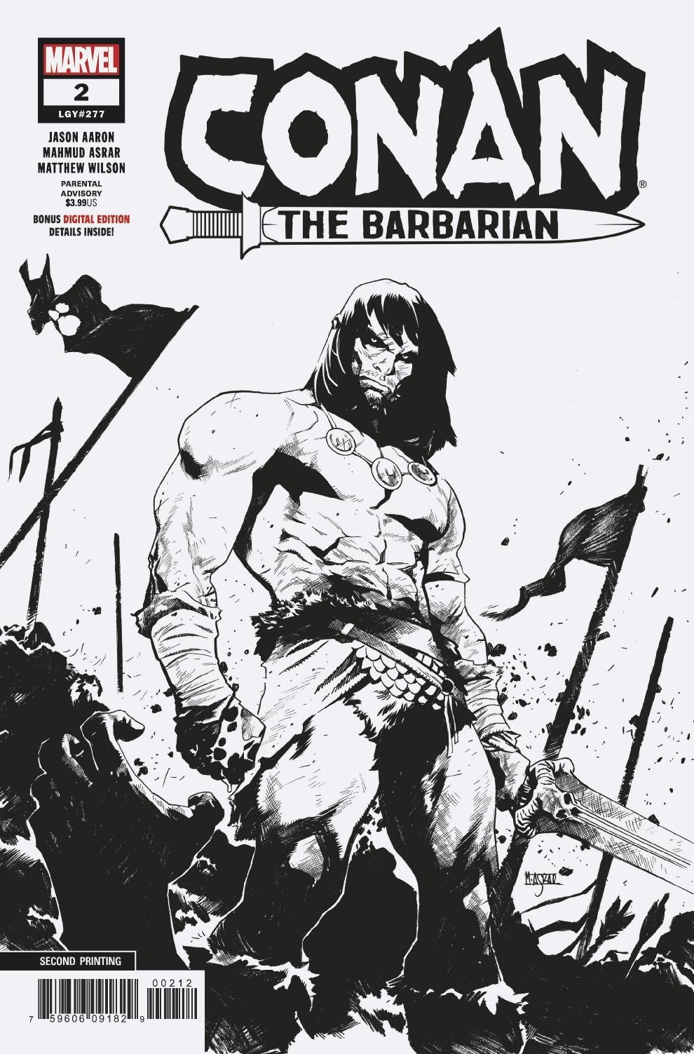 CONAN THE BARBARIAN #2 2ND PTG ASRAR VAR