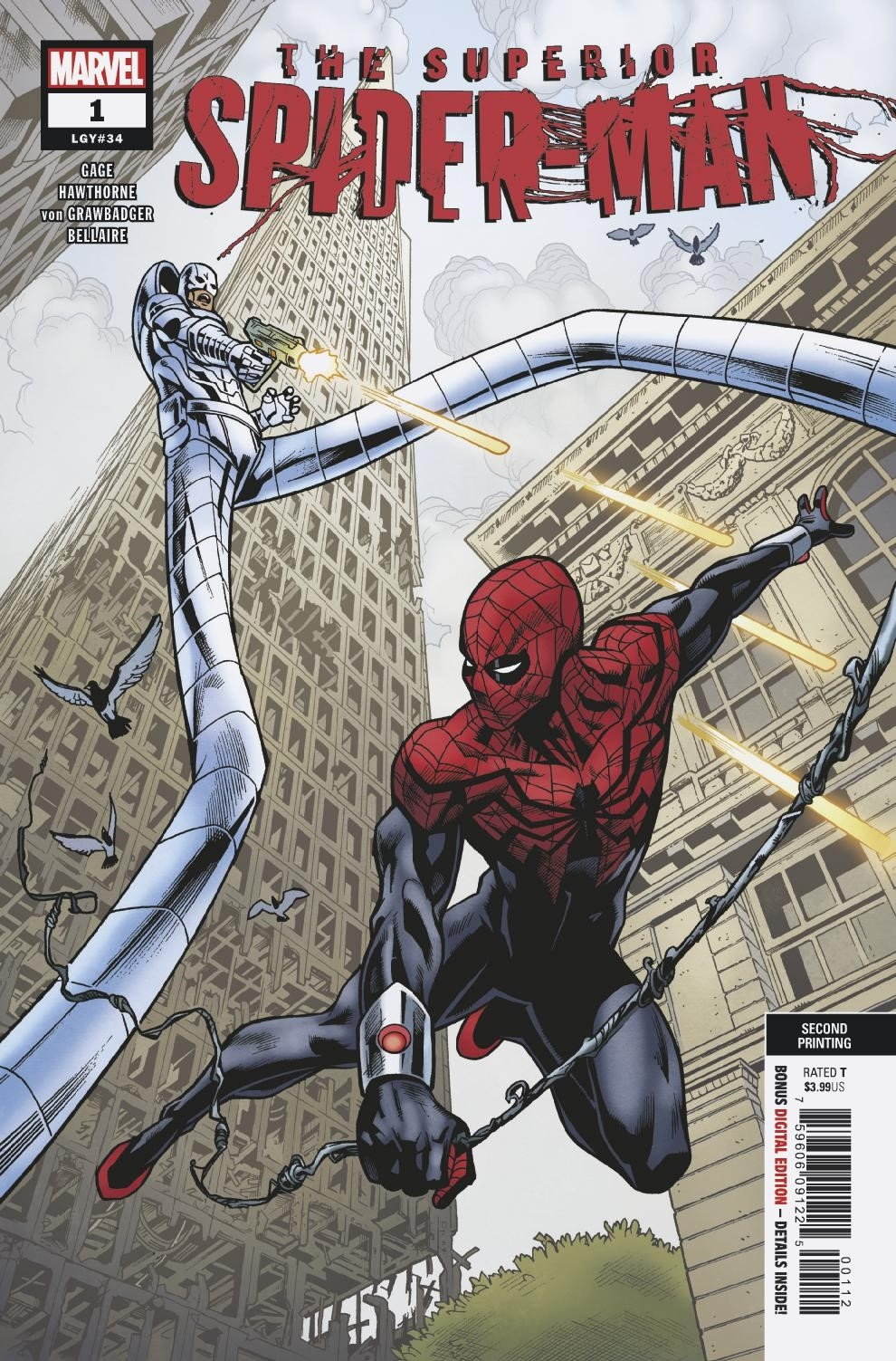 SUPERIOR SPIDER-MAN #1 2ND PTG HAWTHORNE VAR