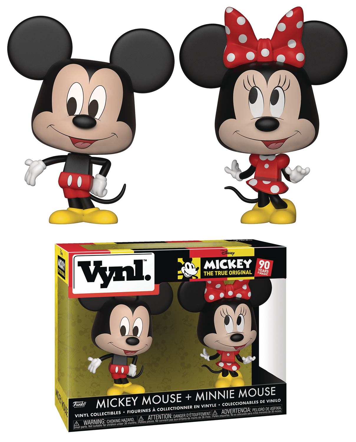 VYNL DISNEY MICKEY MOUSE & MINNIE MOUSE 2PK