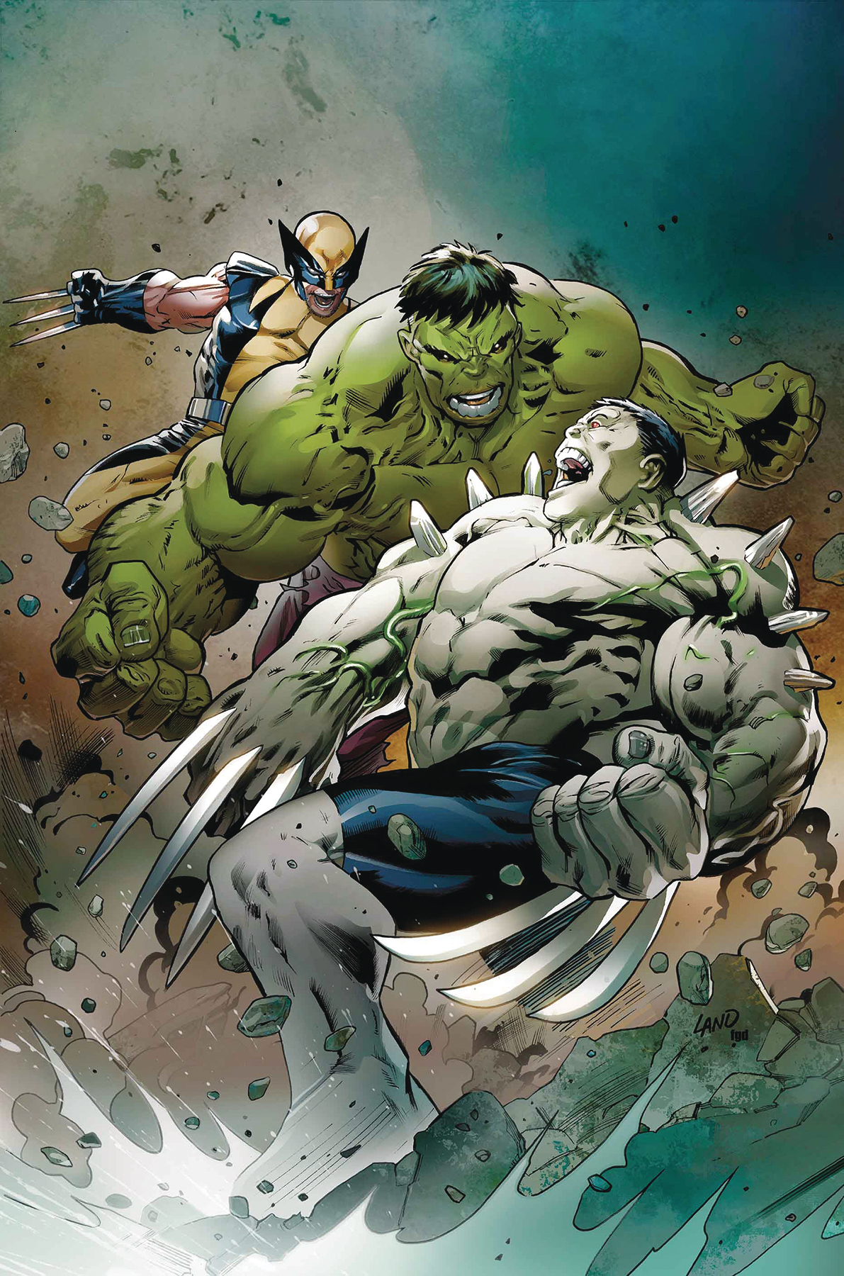 DF HULKVERINES #1 GOLD SGN GREG PAK