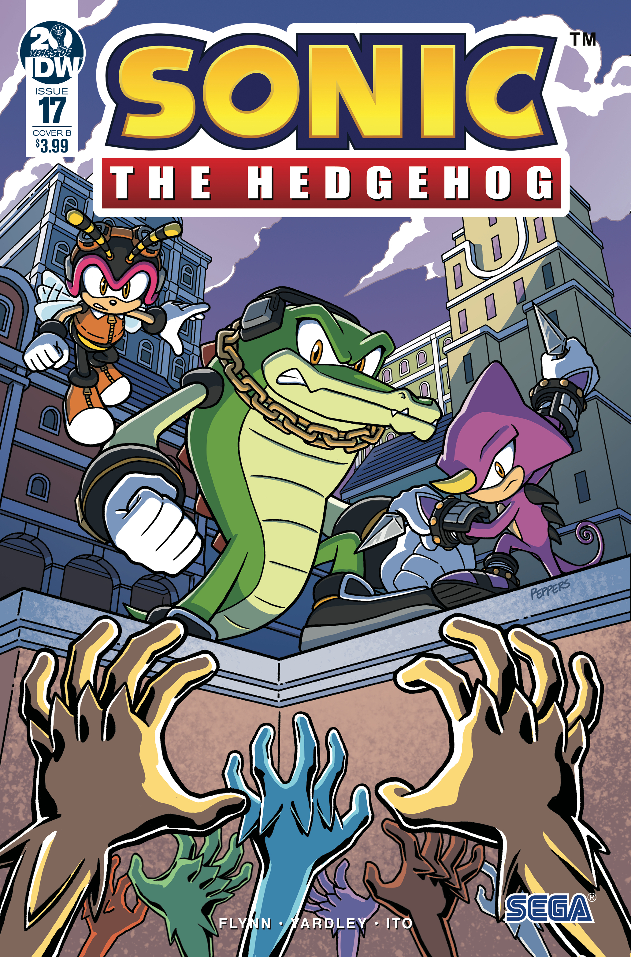 SONIC THE HEDGEHOG #17 CVR B PEPPERS