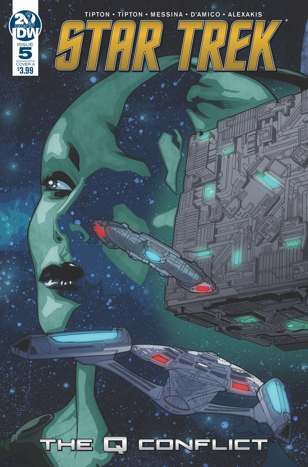 STAR TREK Q CONFLICT #5 (OF 6) CVR A MESSINA