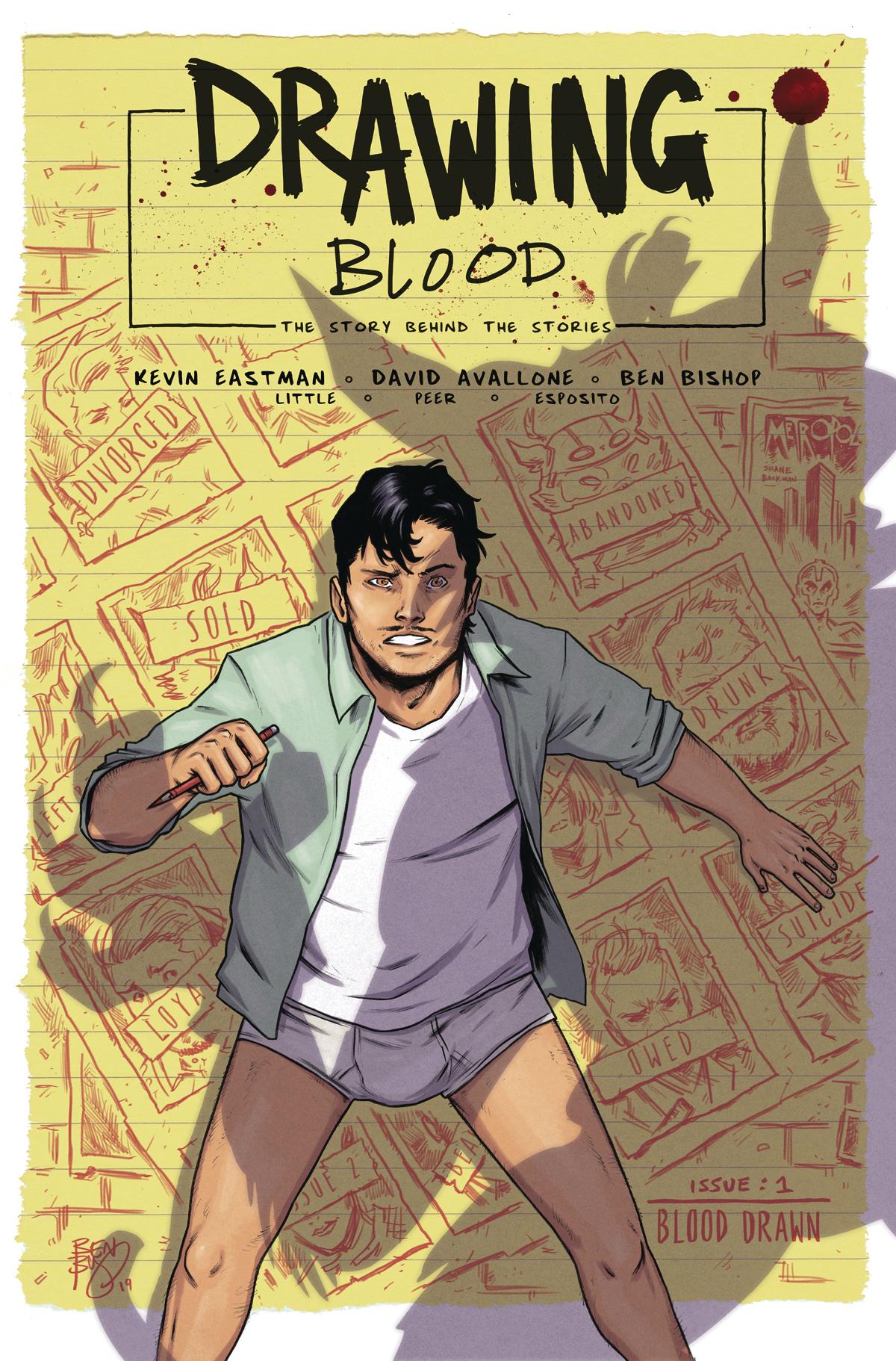 DRAWING BLOOD SPLILLED INK #1 (OF 4) CVR A BISHOP (MR)