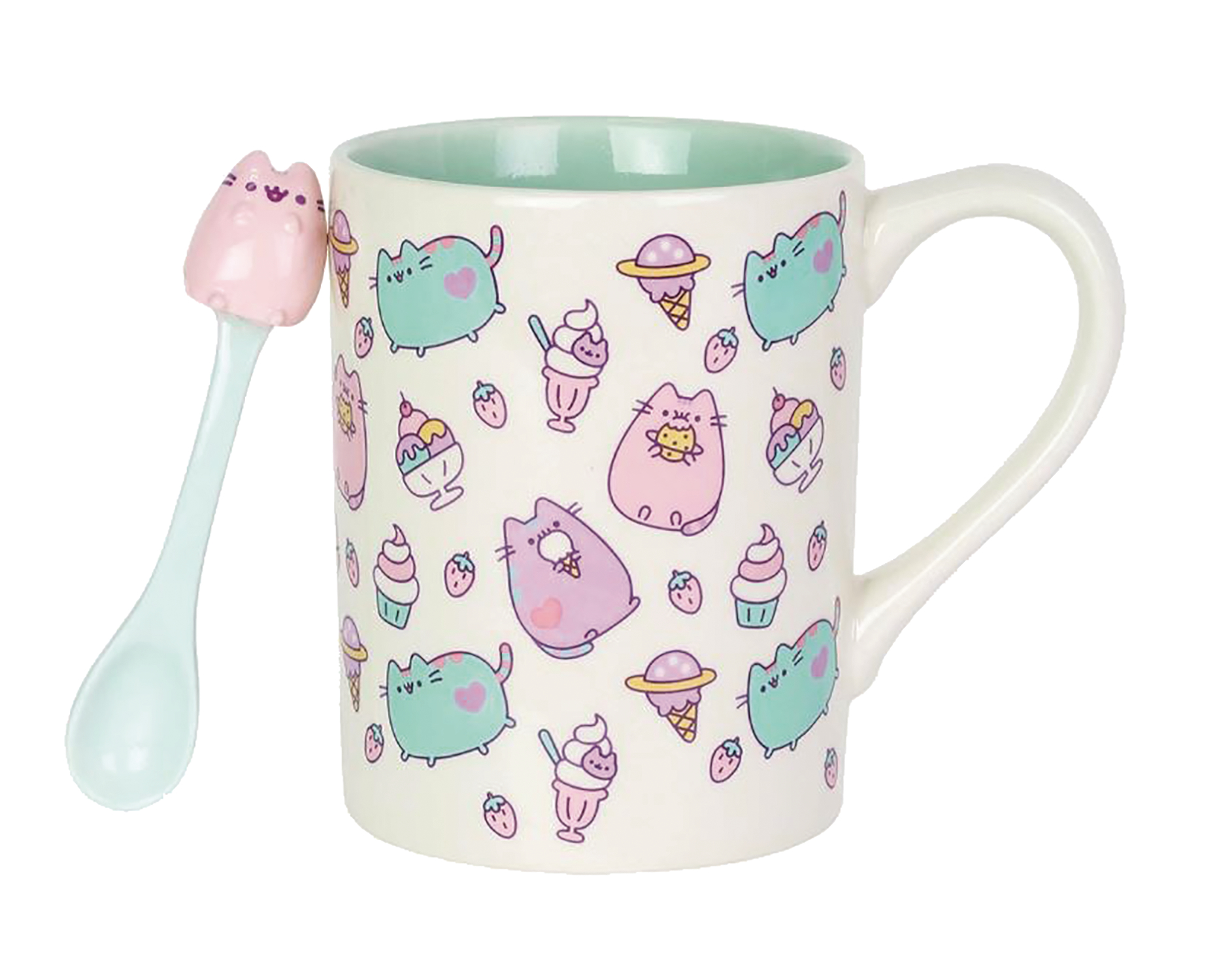 OUR NAME IS MUD PUSHEEN MUG WITH SPOON SET