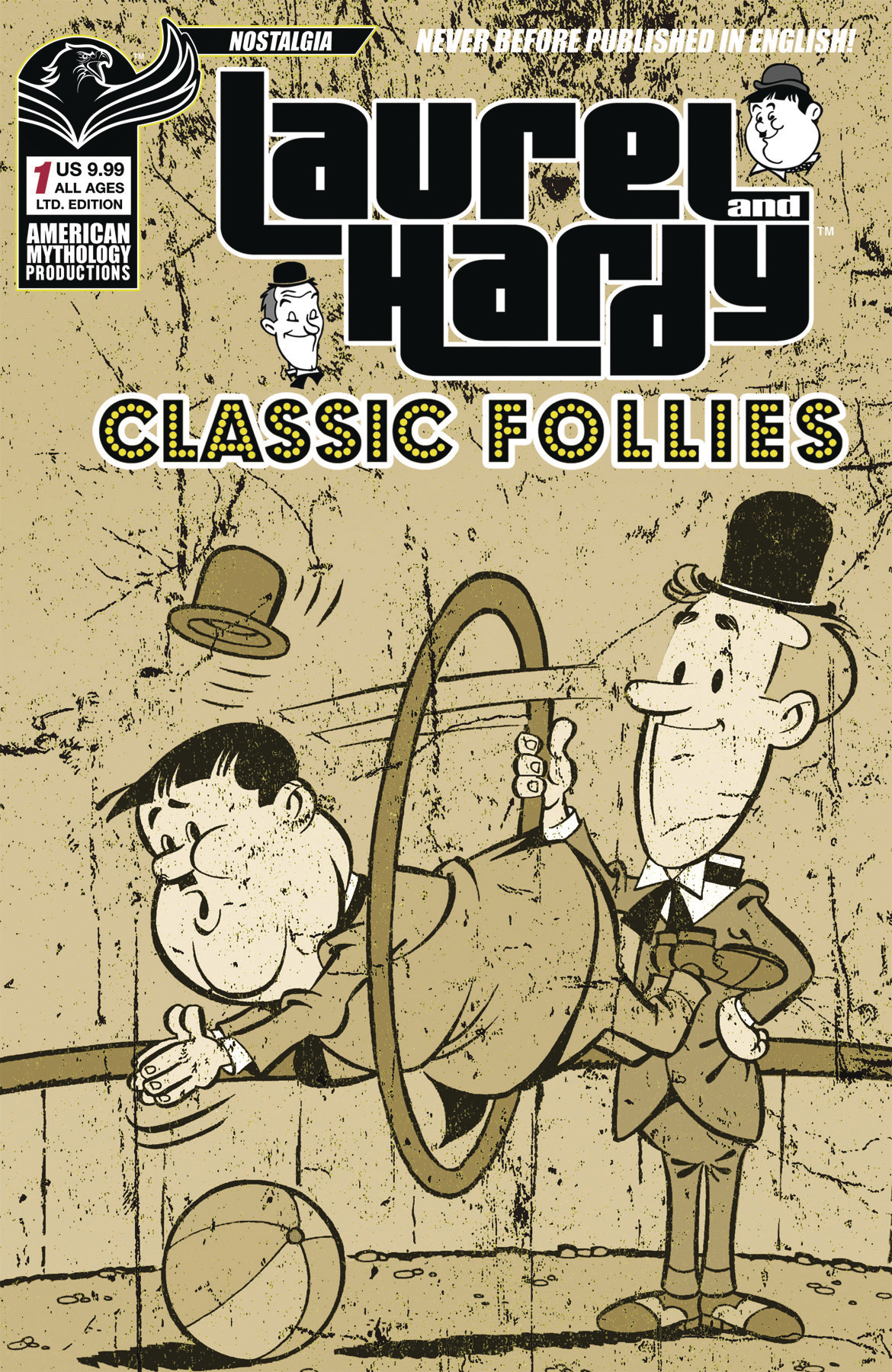 LAUREL & HARDY CLASSIC FOLLIES #1 LTD ED CVR (O/A)