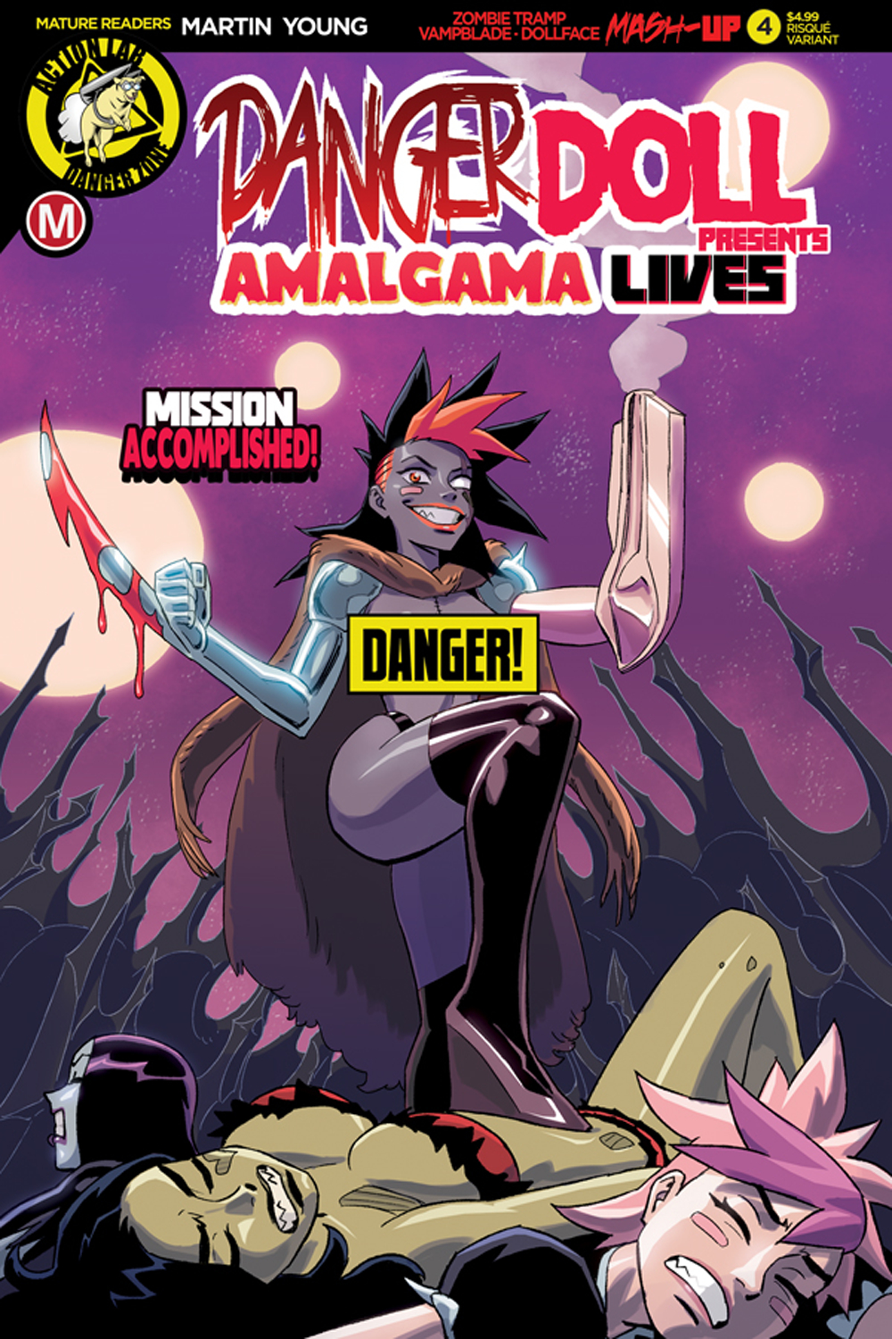 DANGER DOLL SQUAD PRESENTS AMALGAMA LIVES #4 CVR B YOUNG RIS