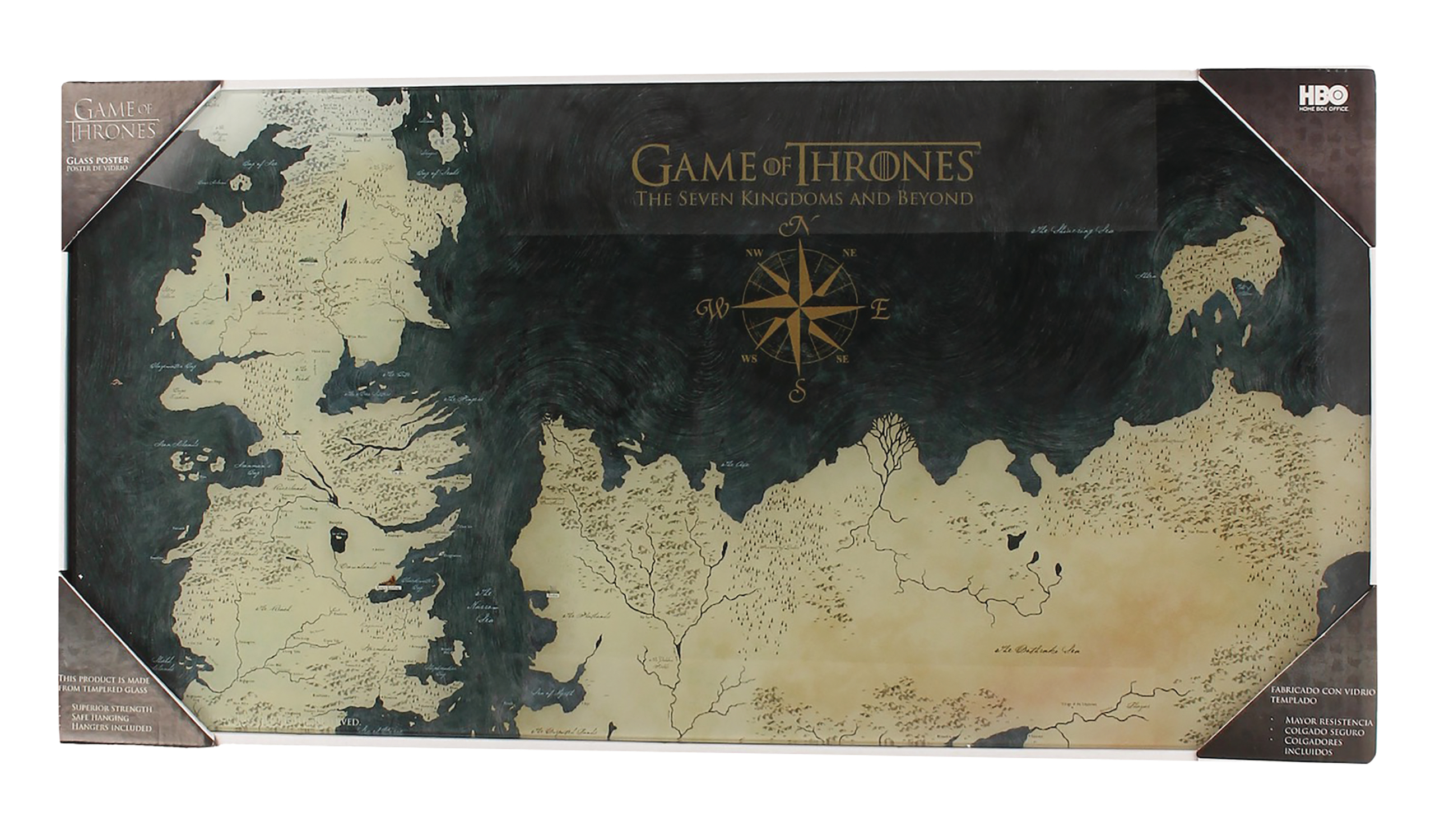 DEC188924 - GAME OF THRONES WESTEROS MAP TEMPERED GL ... on game of thrones continents, game of thrones chart, ice and fire world map, game of thrones world map pdf, game of thrones maps and families, sca known world map,