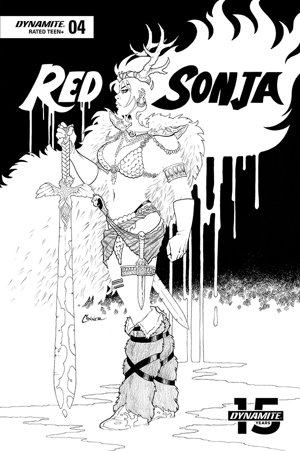 RED SONJA #4 20 COPY CONNER B&W INCV