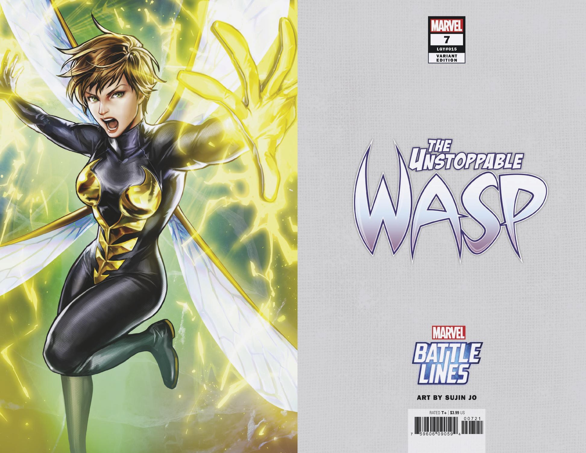 UNSTOPPABLE WASP #7 SUJIN JO MARVEL BATTLE LINES VAR