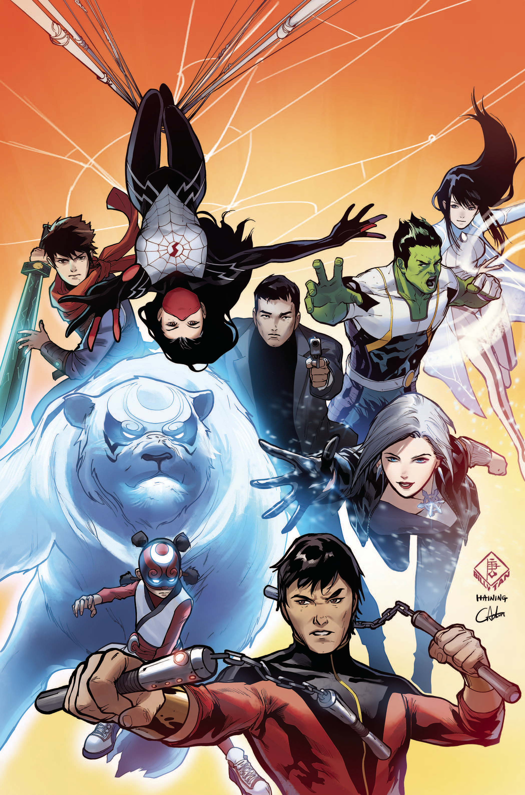 WAR OF REALMS NEW AGENTS OF ATLAS BY BILLY TAN POSTER
