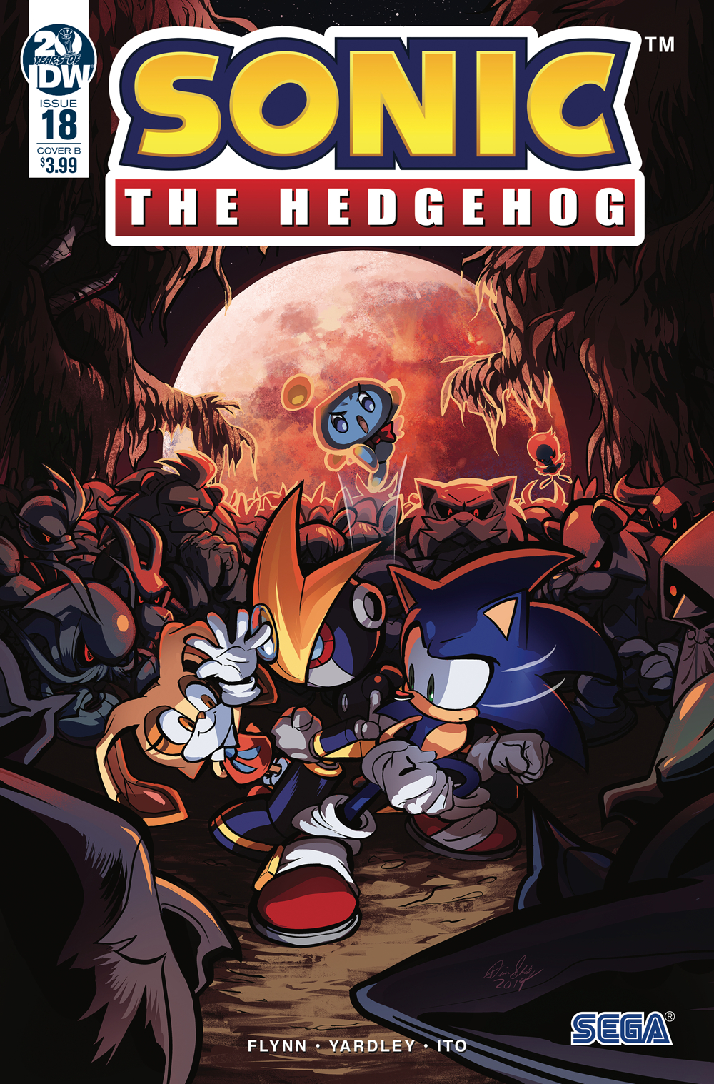 SONIC THE HEDGEHOG #18 CVR B SKELLY