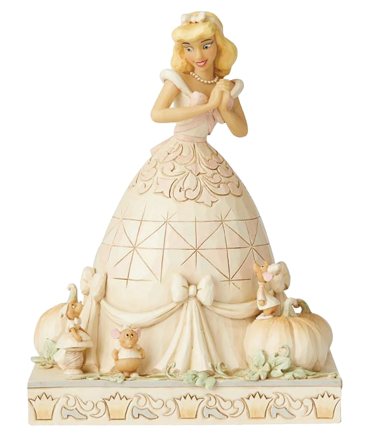 DISNEY WHITE WOODLAND CINDERELLA FIGURE