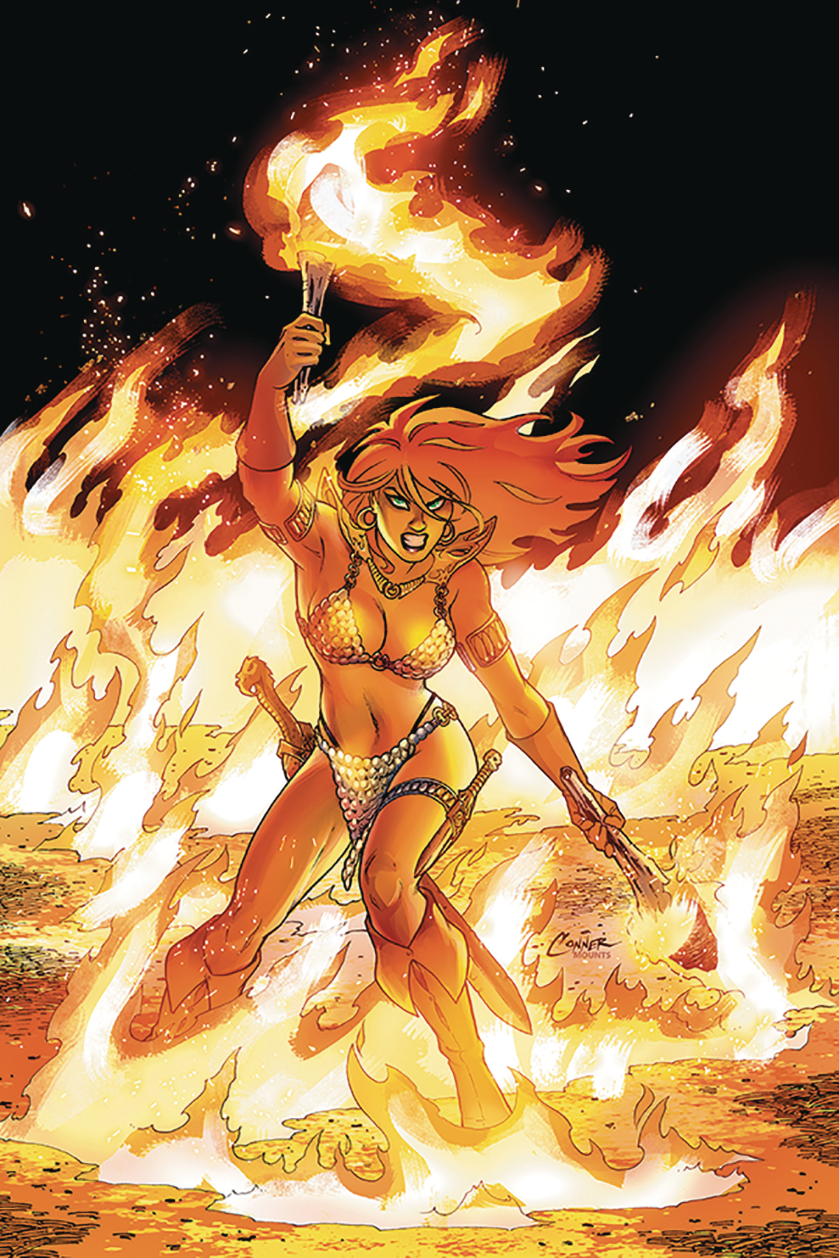 RED SONJA #5 CONNER VIRGIN CVR