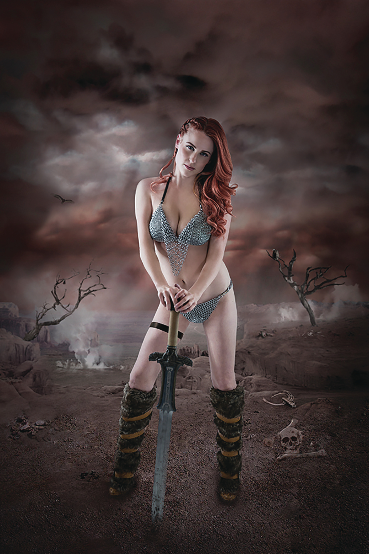 RED SONJA BIRTH OF SHE DEVIL #1 SGN COSPLAY VIRGIN CVR