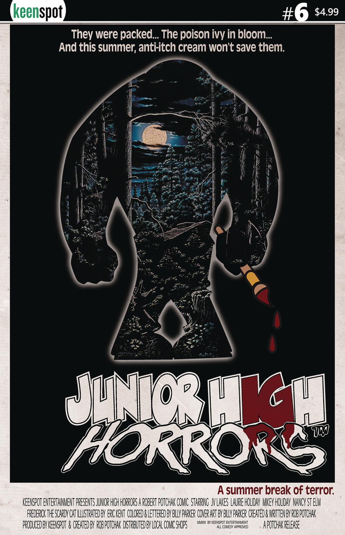 JUNIOR HIGH HORRORS #6 CVR B FRIDAY THE 13TH PARODY