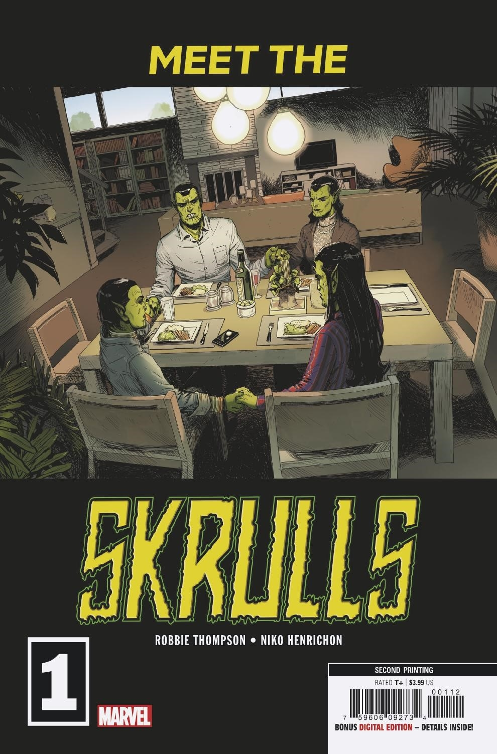 MEET THE SKRULLS #1 (OF 5) 2ND PTG MARTIN VAR