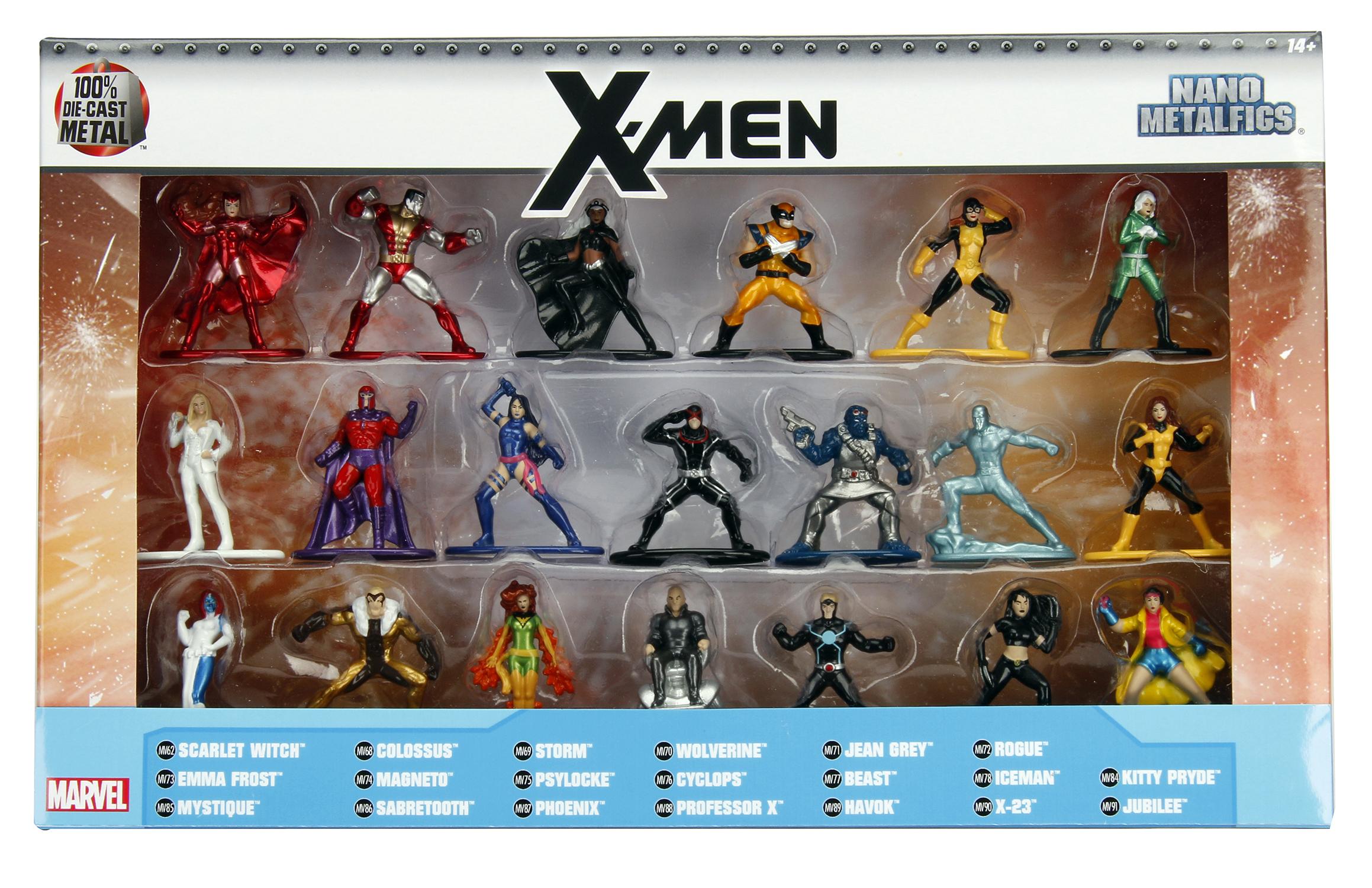MARVEL HEROES X-MEN METALFIGS NANO 20PC SET