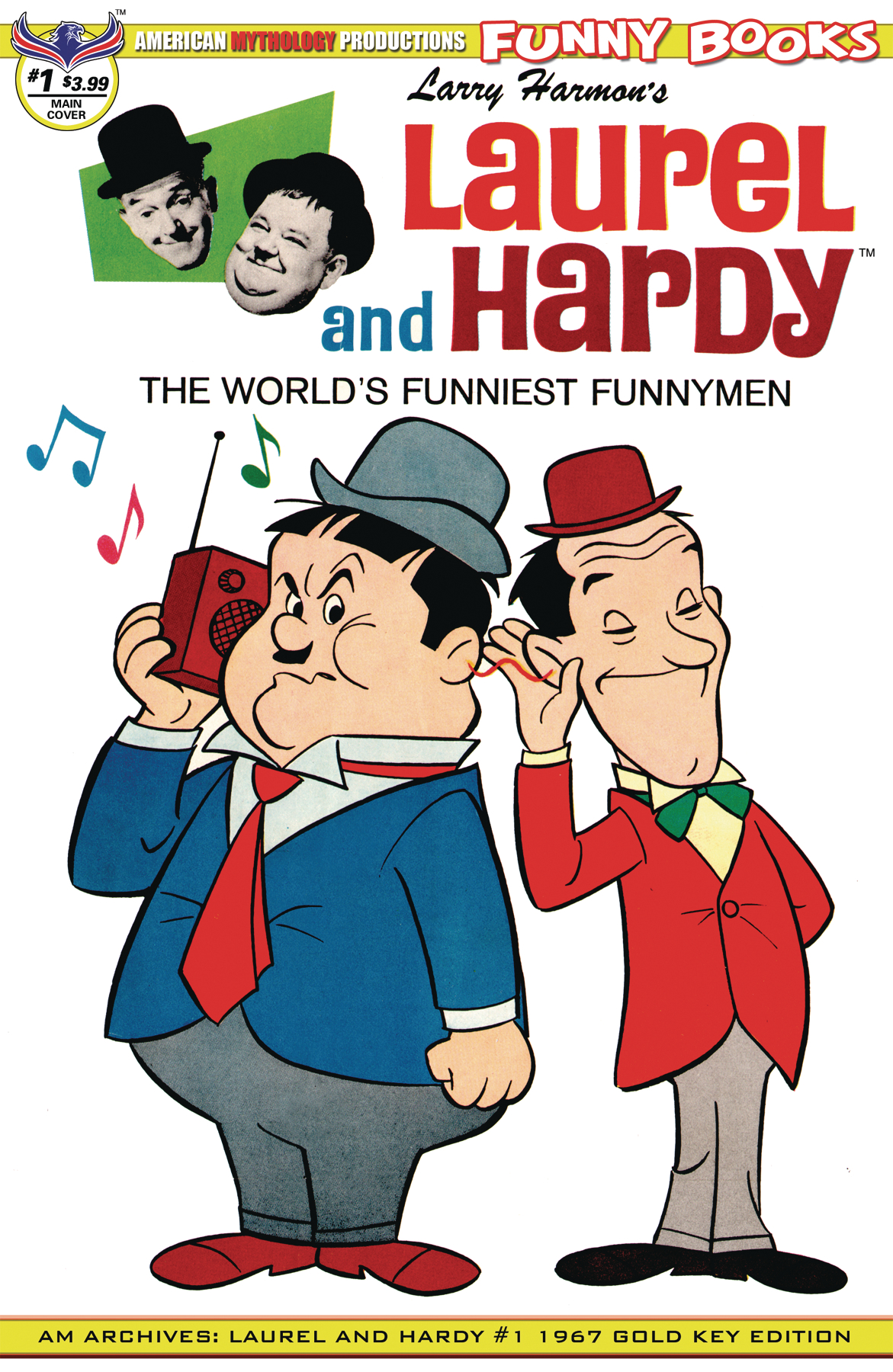 AM ARCHIVES LAUREL & HARDY #1 CVR A 1967 MAIN