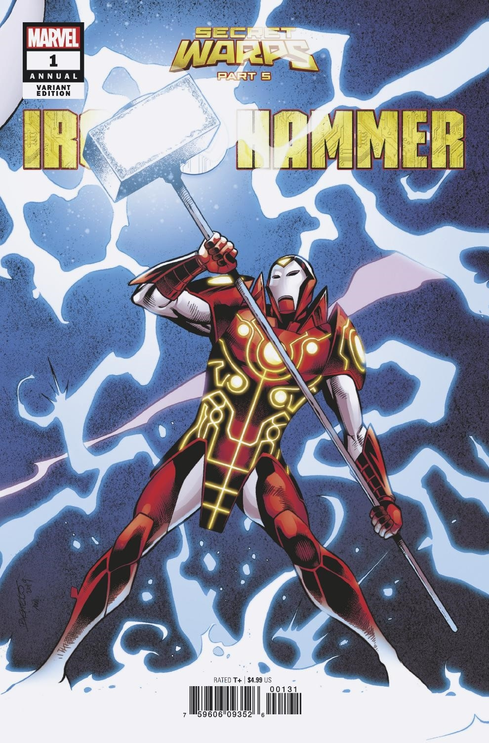 SECRET WARPS IRON HAMMER ANNUAL #1 PACHECO CONNECTING VAR