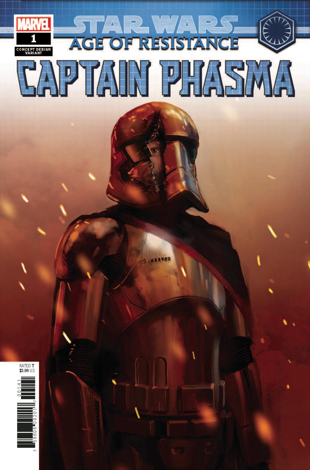 STAR WARS AOR CAPTAIN PHASMA #1 CONCEPT VAR