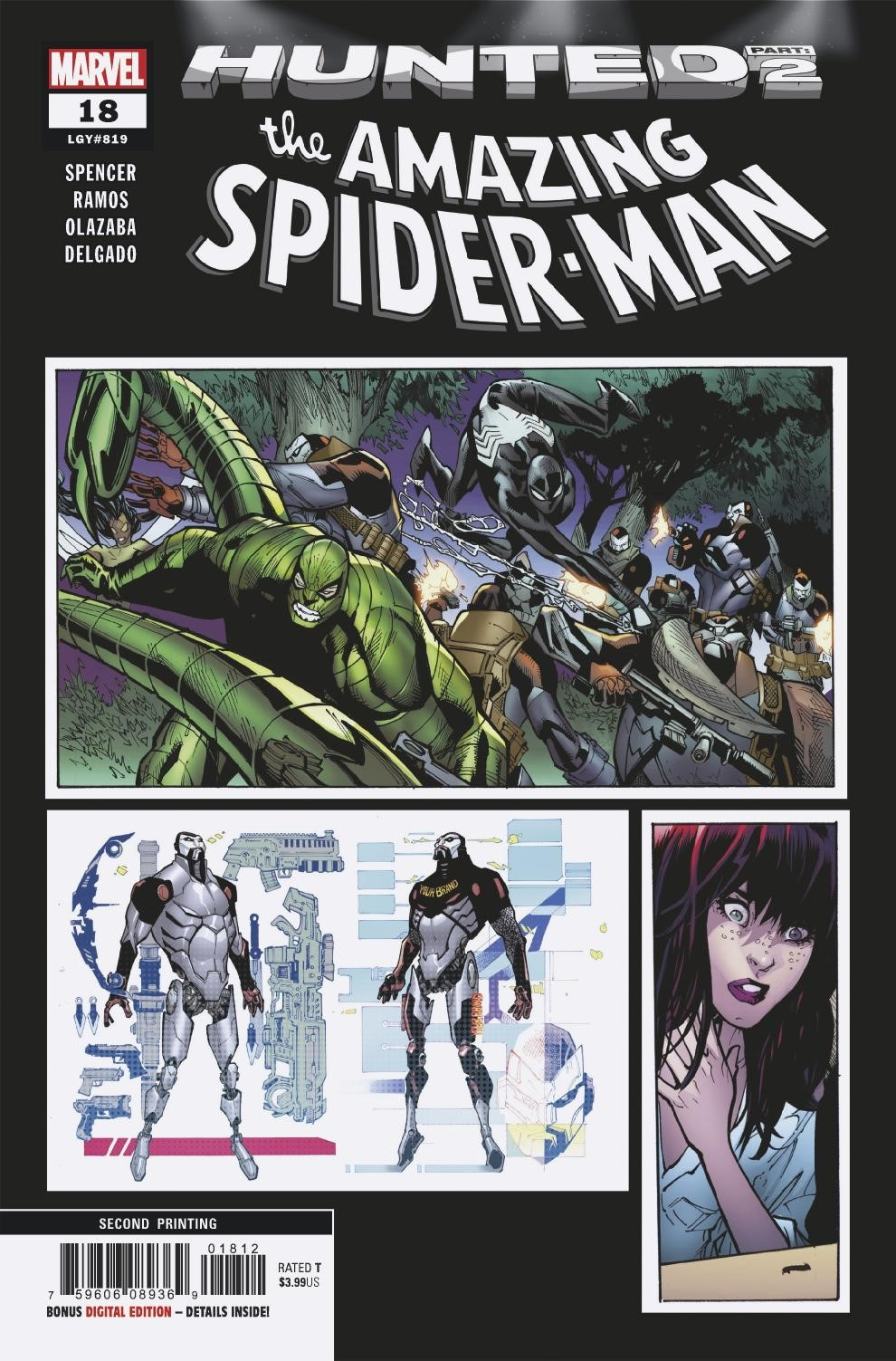 AMAZING SPIDER-MAN #18 2ND PTG RAMOS VAR