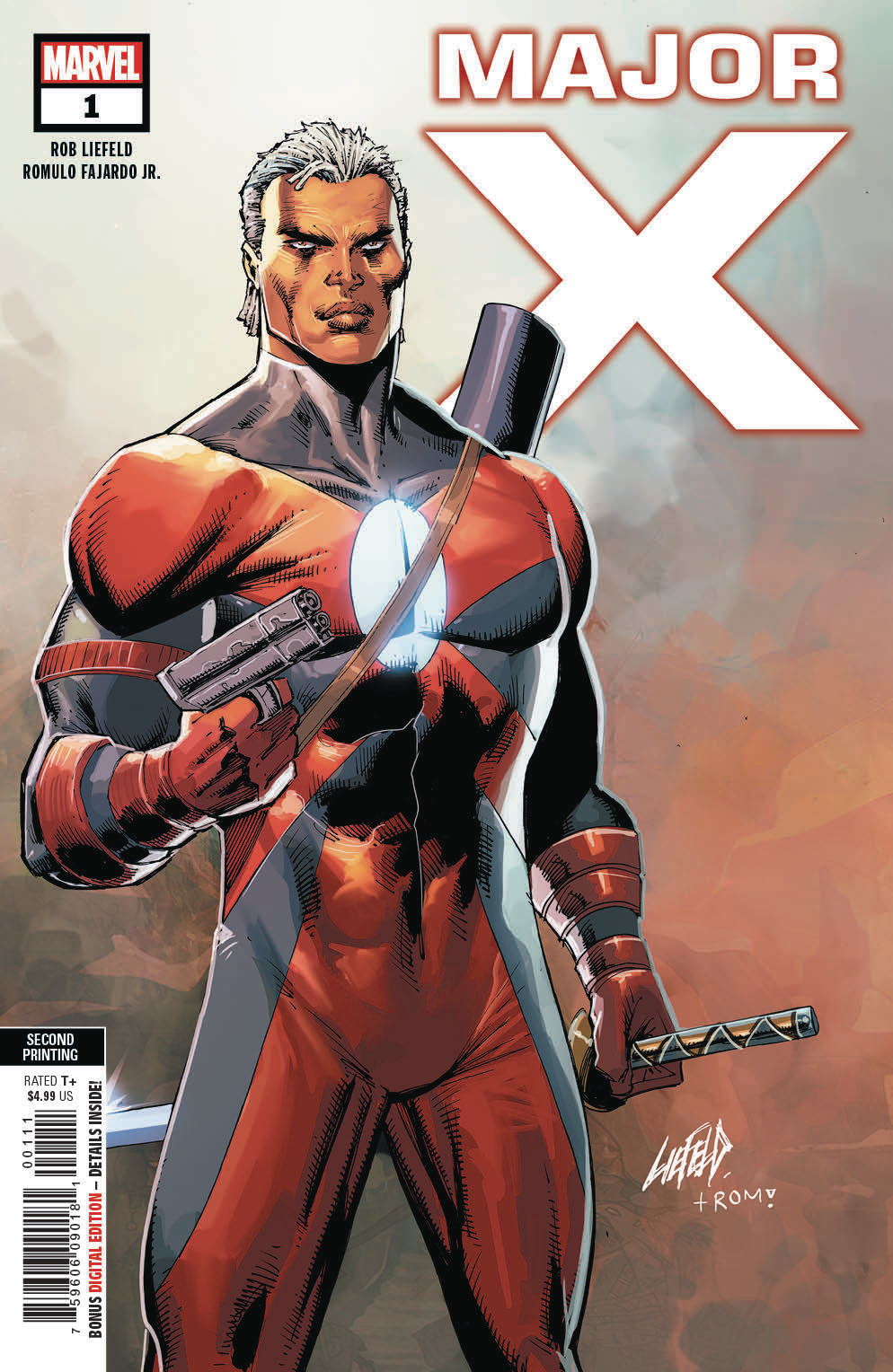 MAJOR X #1 (OF 6) 2ND PTG LIEFELD VAR