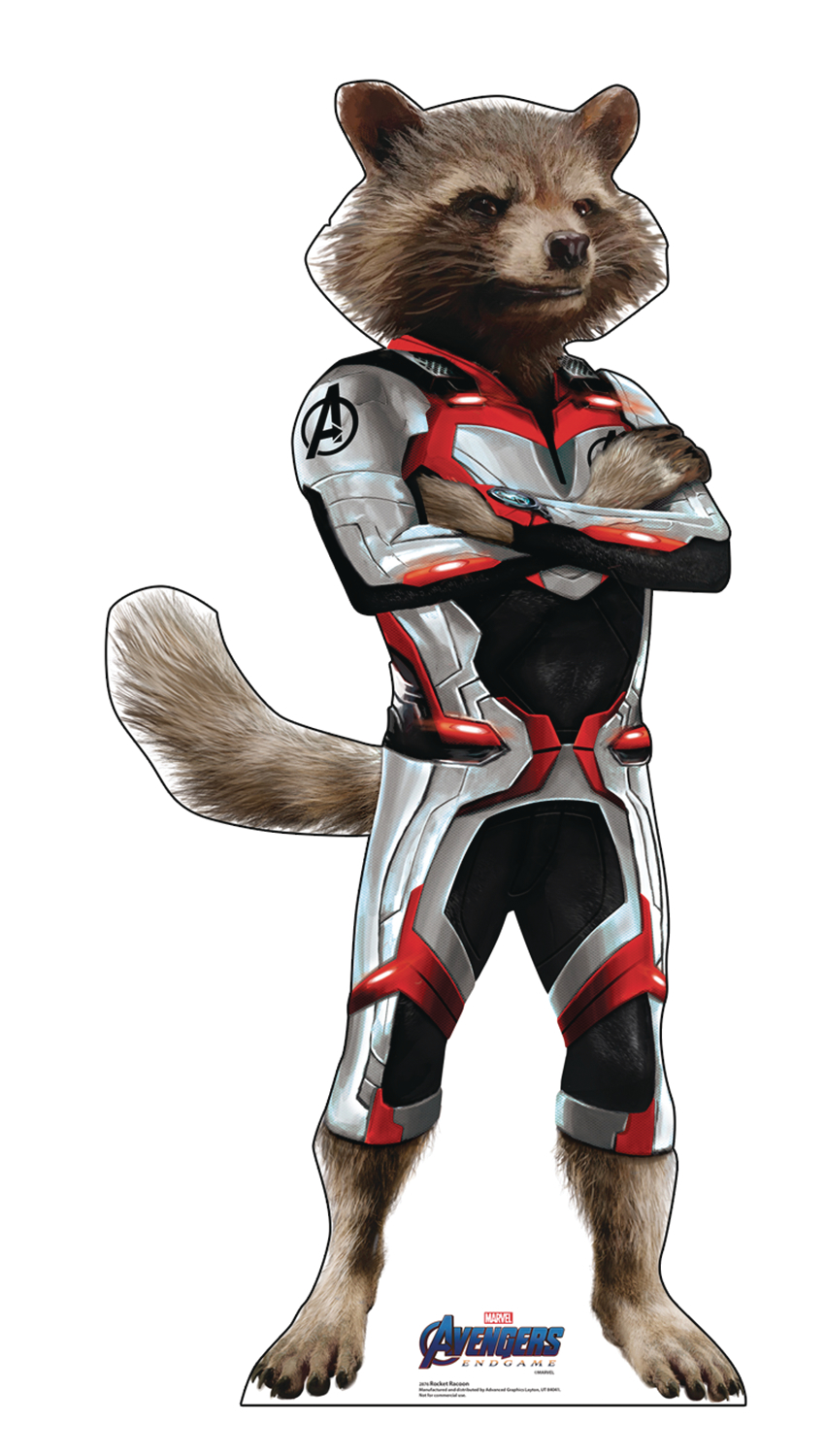AVENGERS ENDGAME ROCKET RACCOON LIFE-SIZE STAND UP
