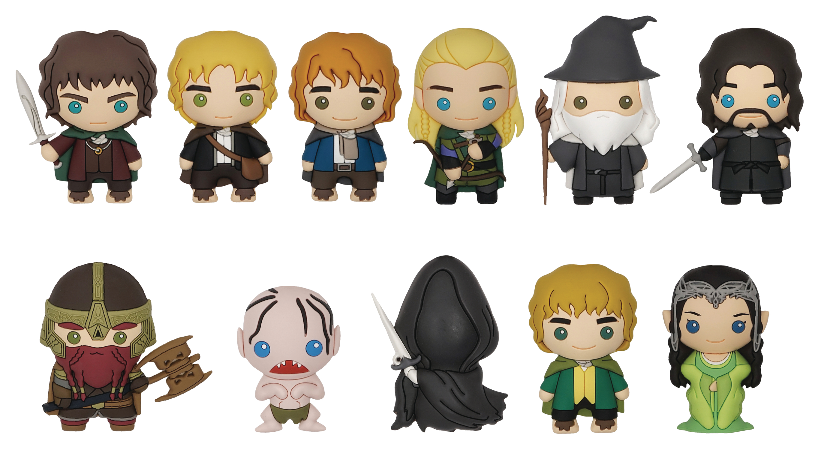 LORD OF THE RINGS 3D FOAM FIGURAL KEYRING 24PC BMB DS
