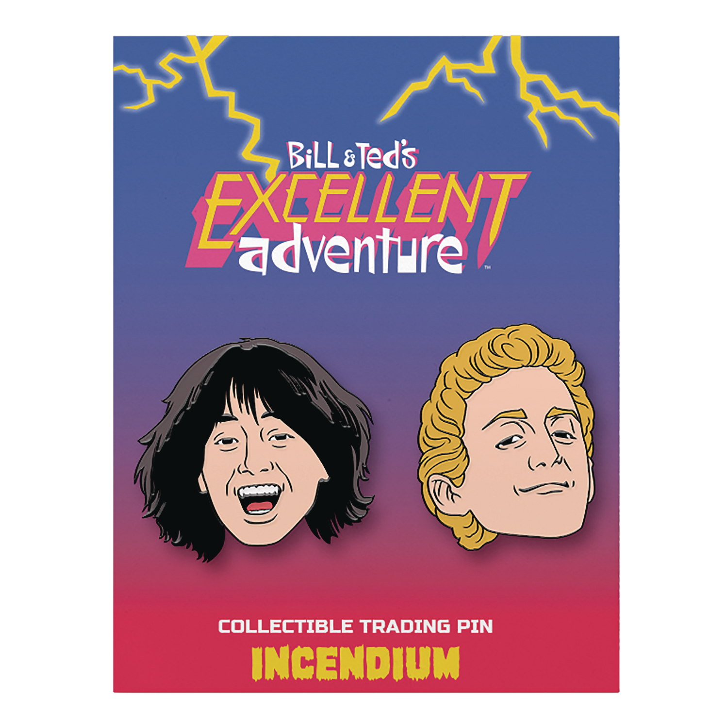 BILL AND TEDS EXCELLENT ADVENTURE LAPEL PIN SET A