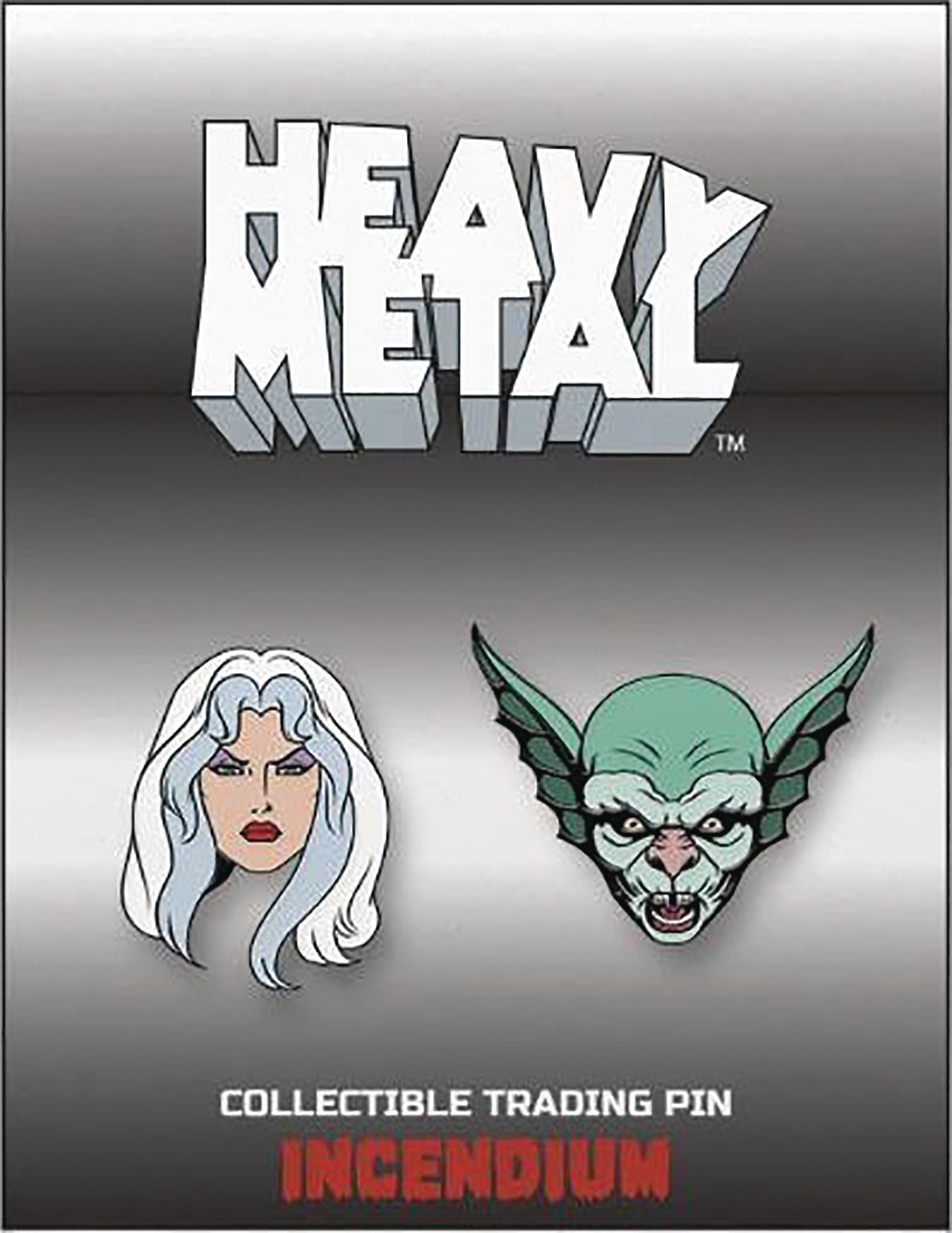 HEAVY METAL LAPEL PIN SET A