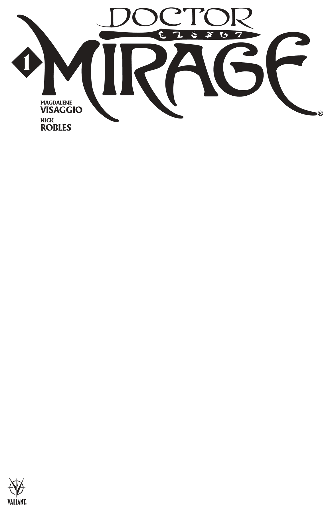 DOCTOR MIRAGE #1 (OF 5) CVR E BLANK