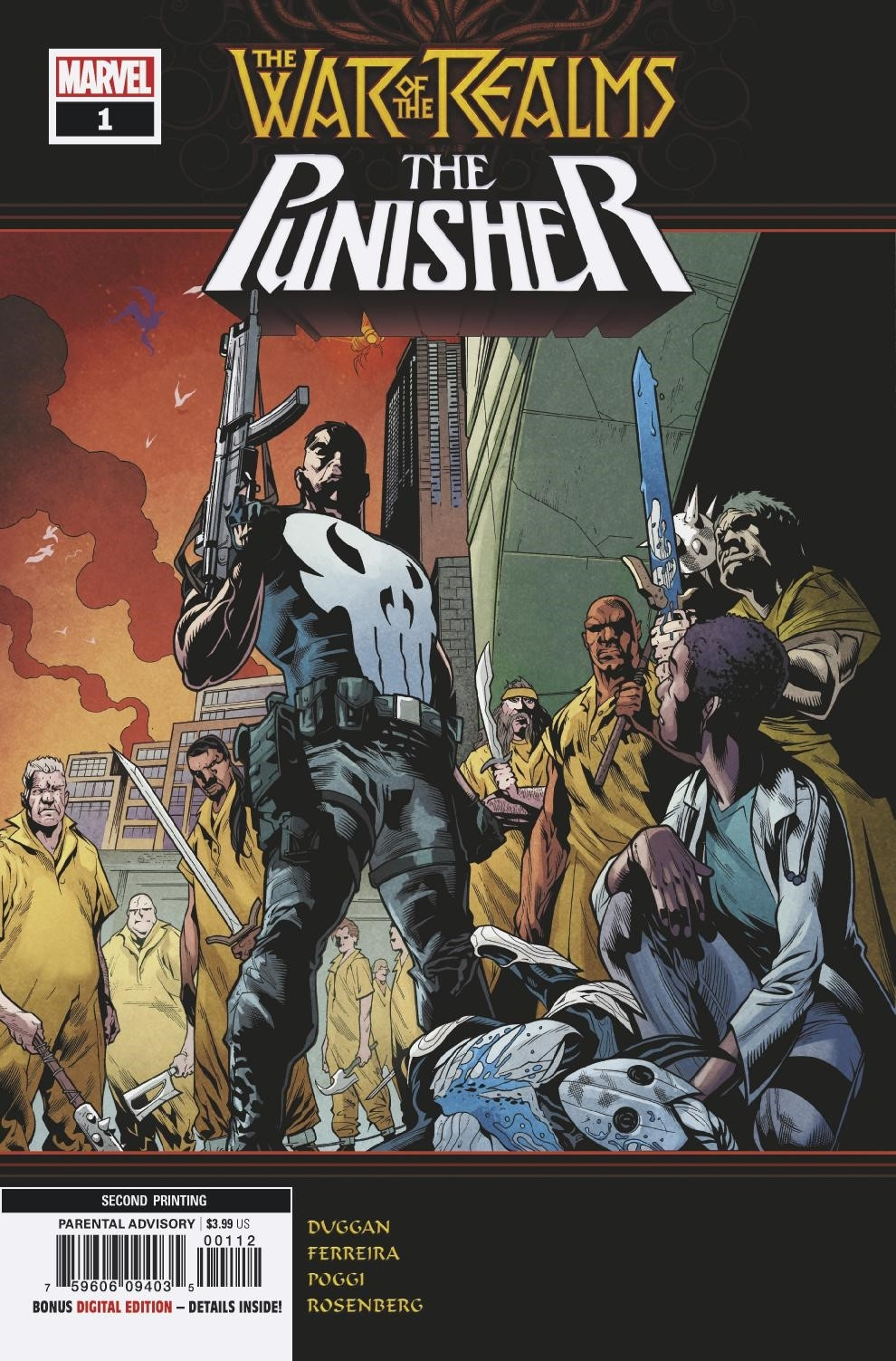 WAR OF REALMS PUNISHER #1 (OF 3) 2ND PTG FERREIRA VAR