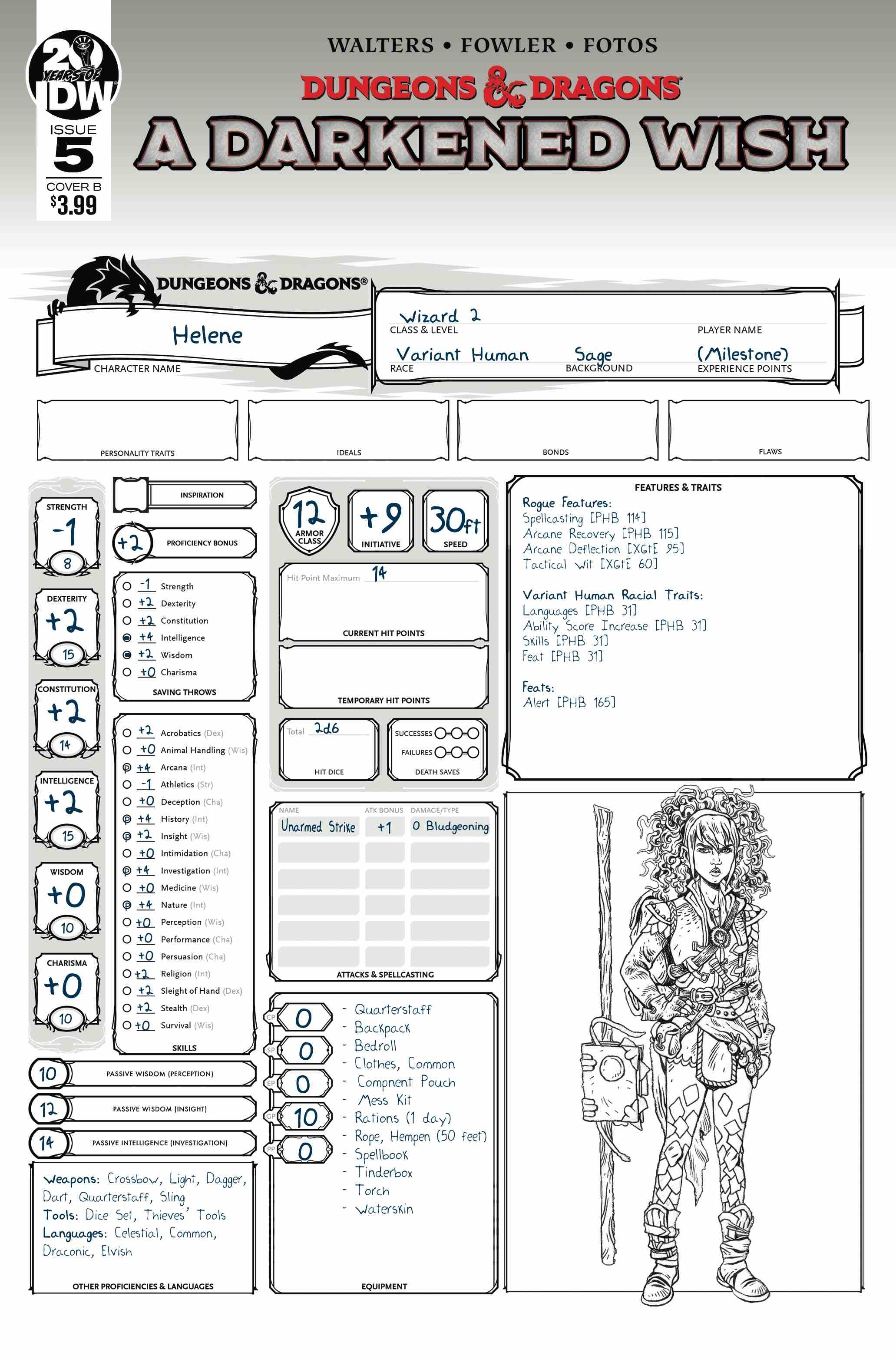 DUNGEONS & DRAGONS A DARKENED WISH #5 (OF 5) CVR B CHARACTER