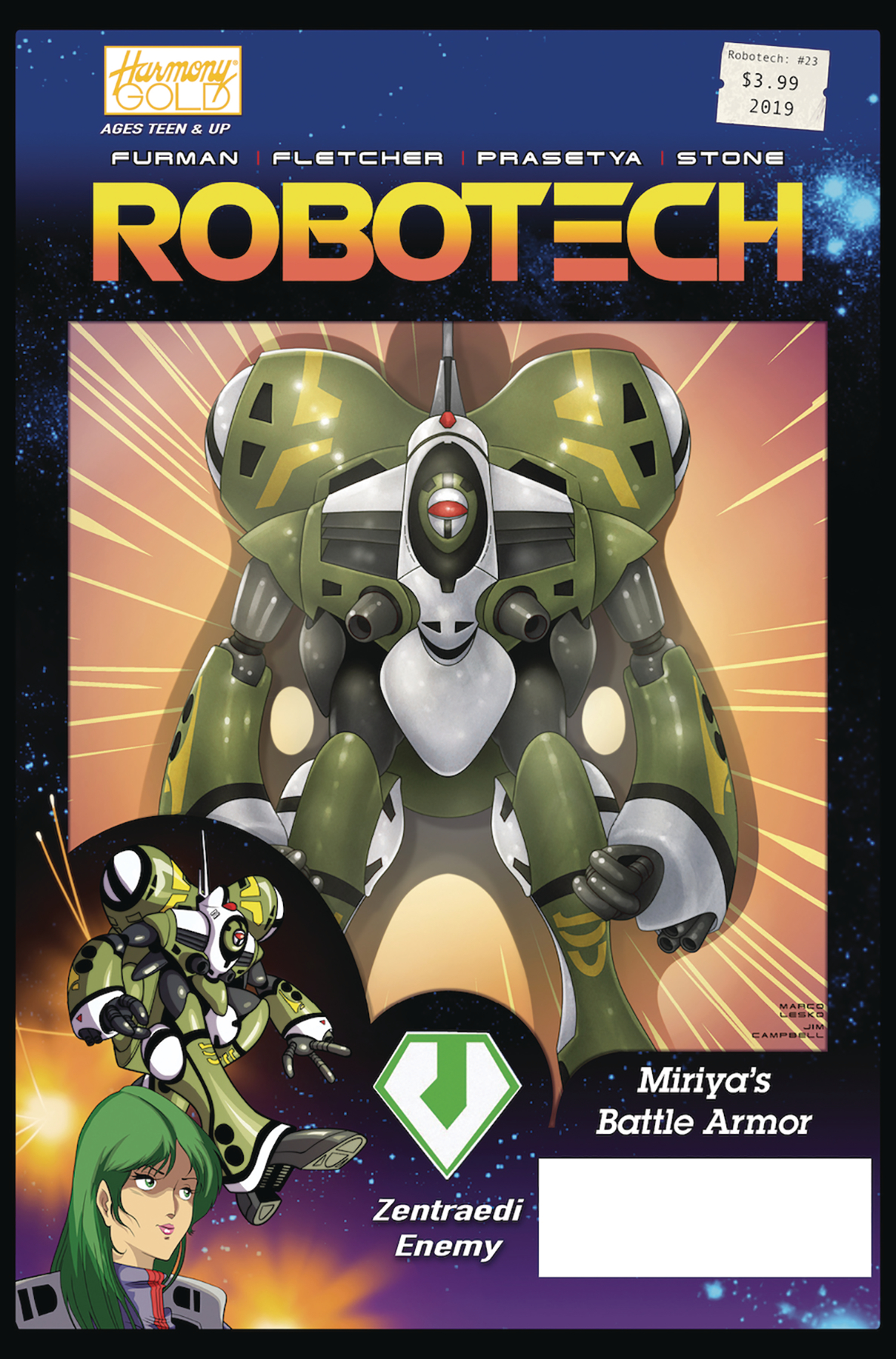 ROBOTECH #23 CVR B VEHICLE ACTION FIGURE VAR