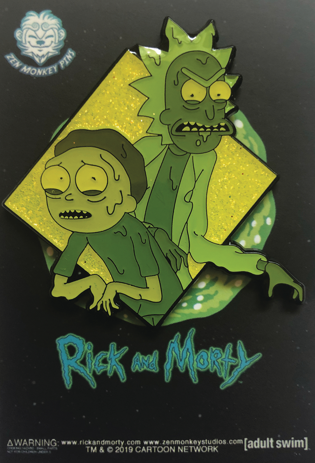 RICK AND MORTY FAMOUS MOMENTS WERE THE TOXINS PIN