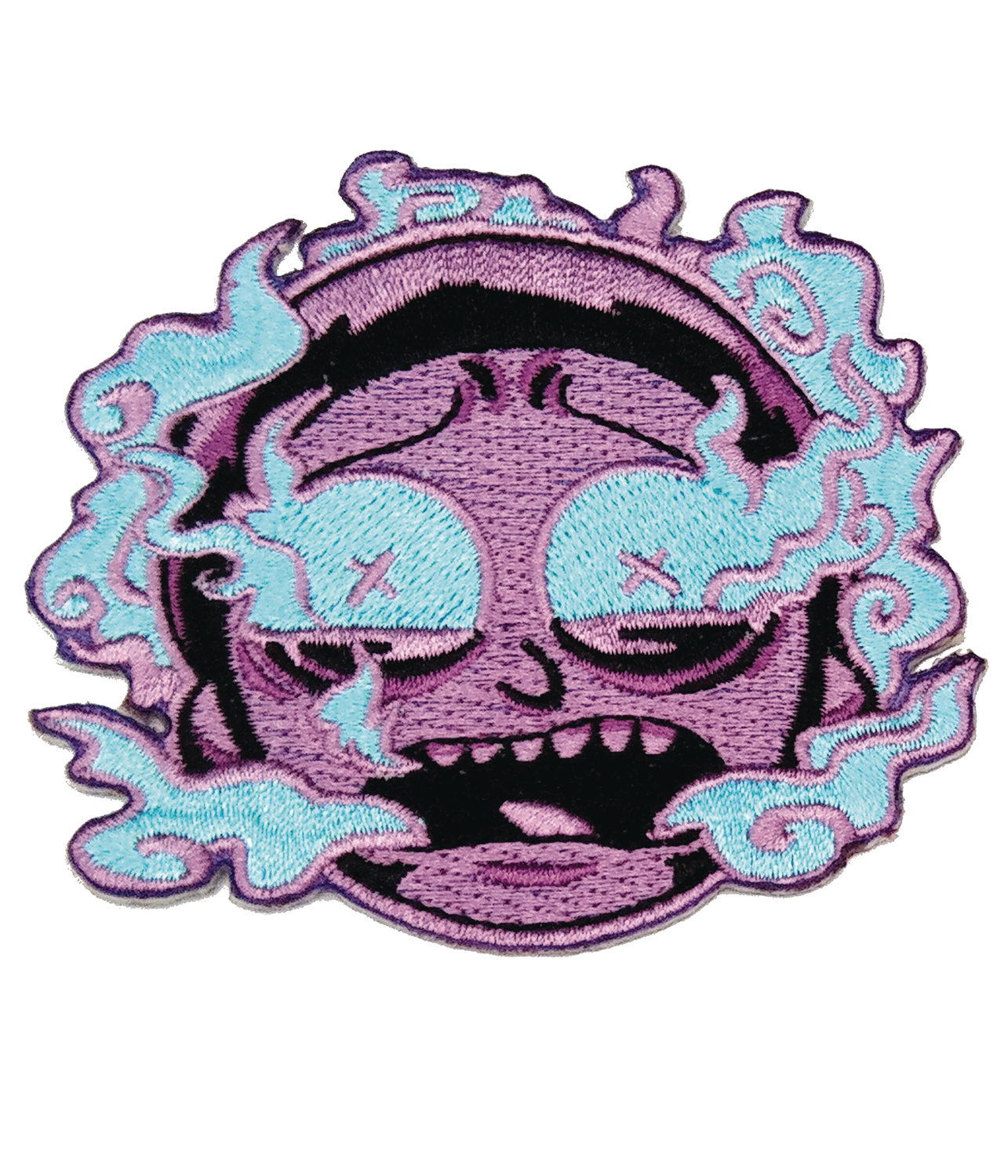 RICK AND MORTY PURPLE BURNT OUT MORTY PATCH