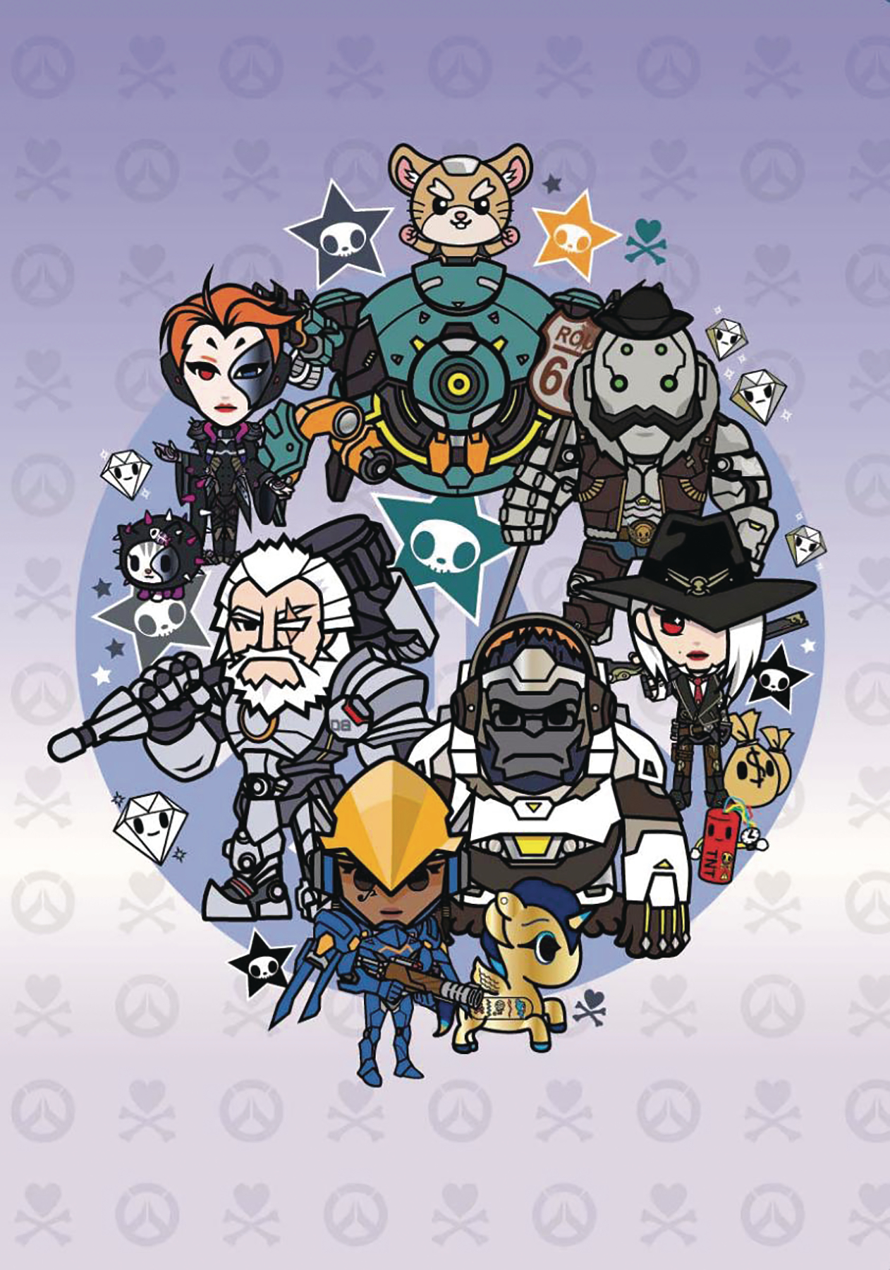 OVERWATCH X TOKIDOKI SERIES 3 HEROES NOTEBOOK