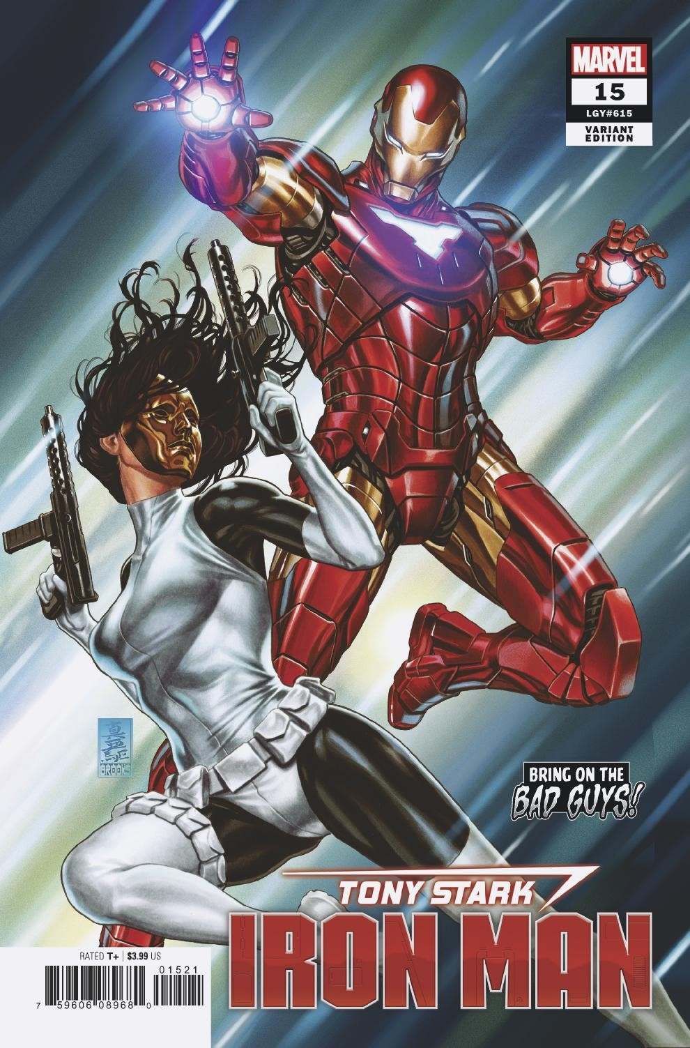 TONY STARK IRON MAN #15 BROOKS BOBG VAR