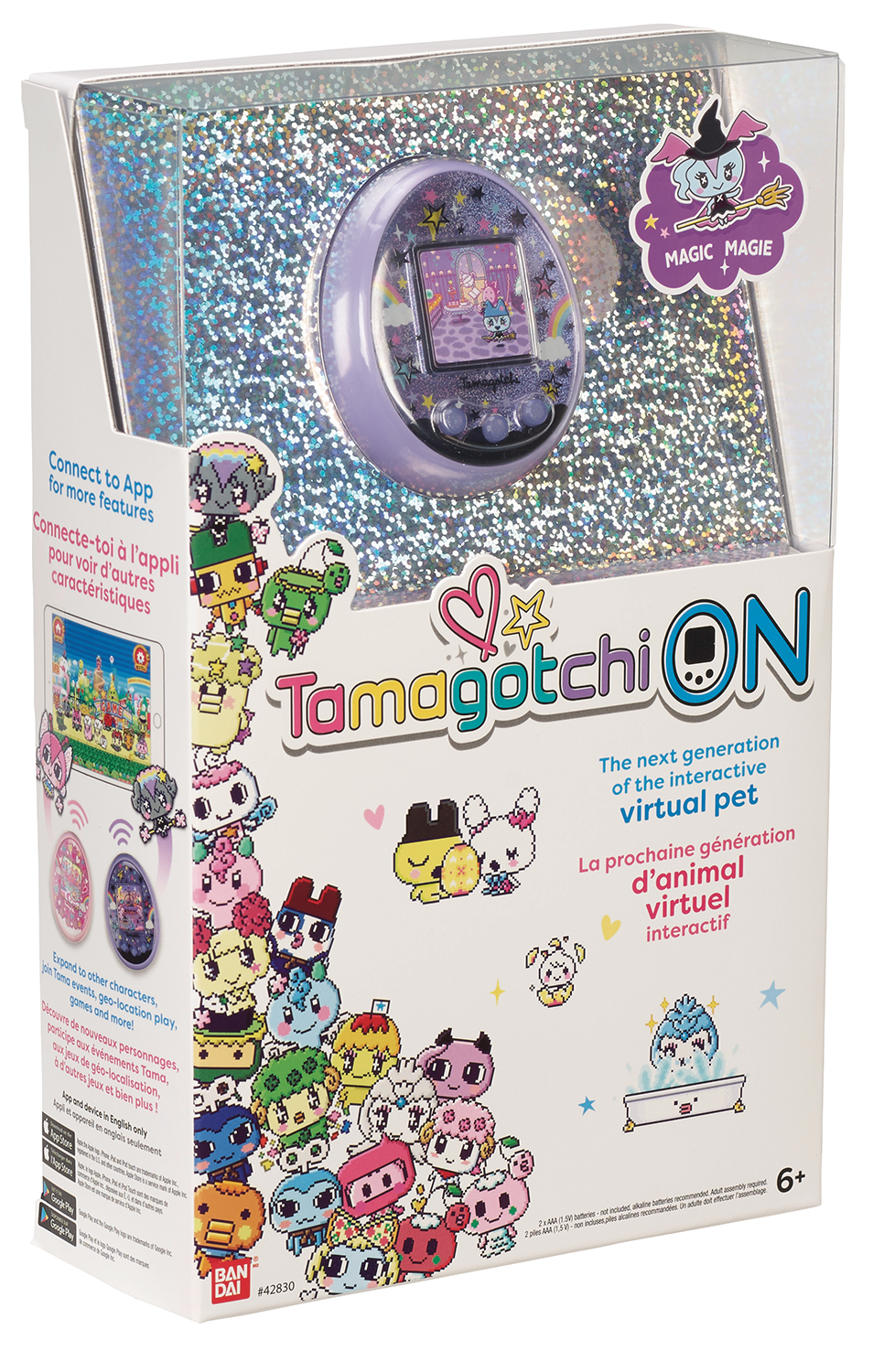 TAMAGOTCHI ON MAGIC PURPLE VIRTUAL PET