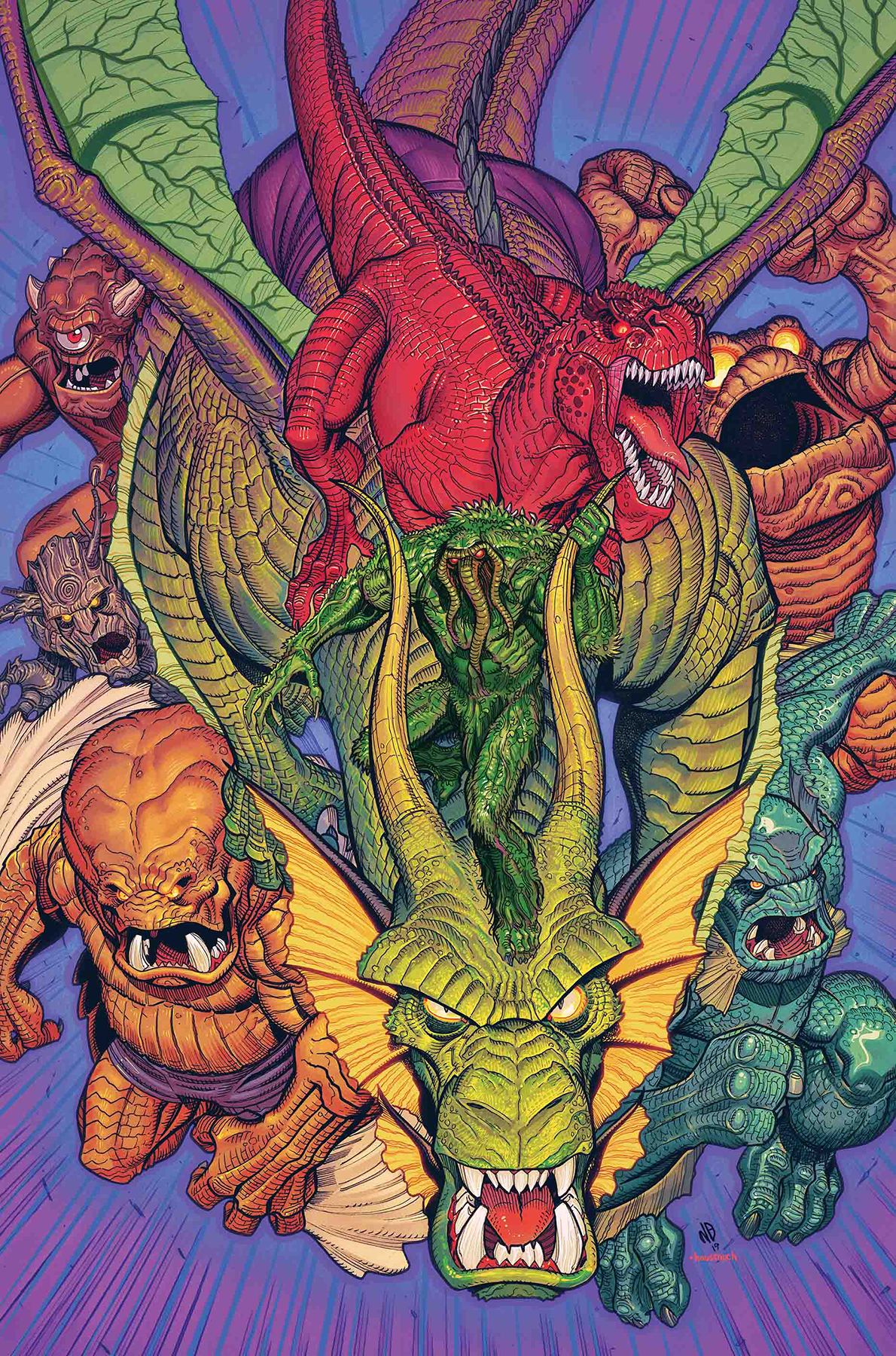 MARVEL MONSTERS BY BRADSHAW POSTER