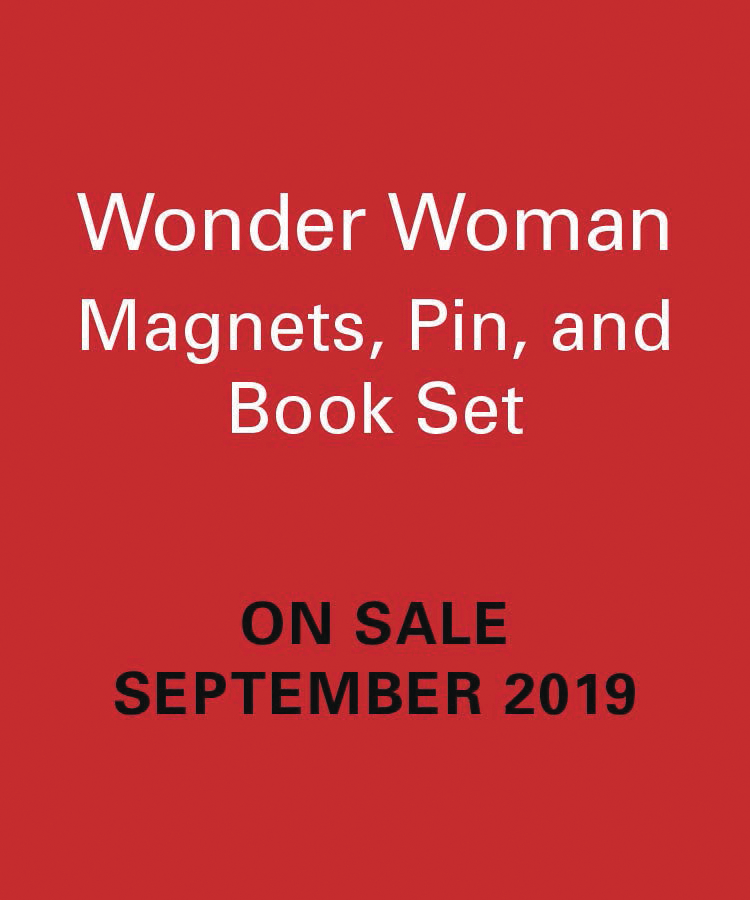 WONDER WOMAN MAGNET PIN & BOOK SET