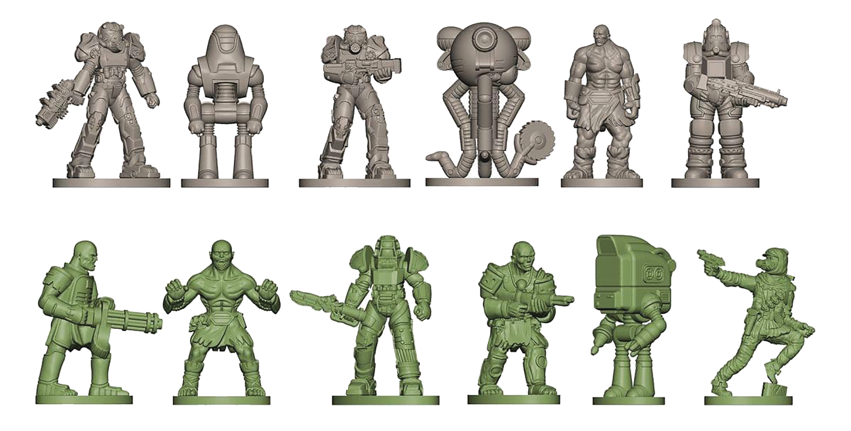 FALLOUT NANOFORCE ARMY BUILDER FIGURE BAGGED SET # 3
