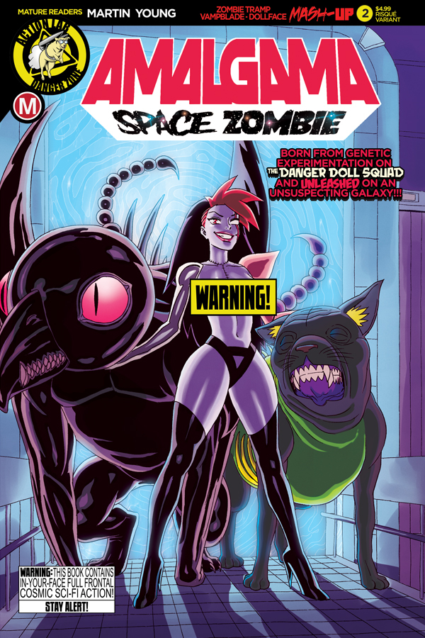 AMALGAMA SPACE ZOMBIE #2 CVR B YOUNG RISQUE (MR)