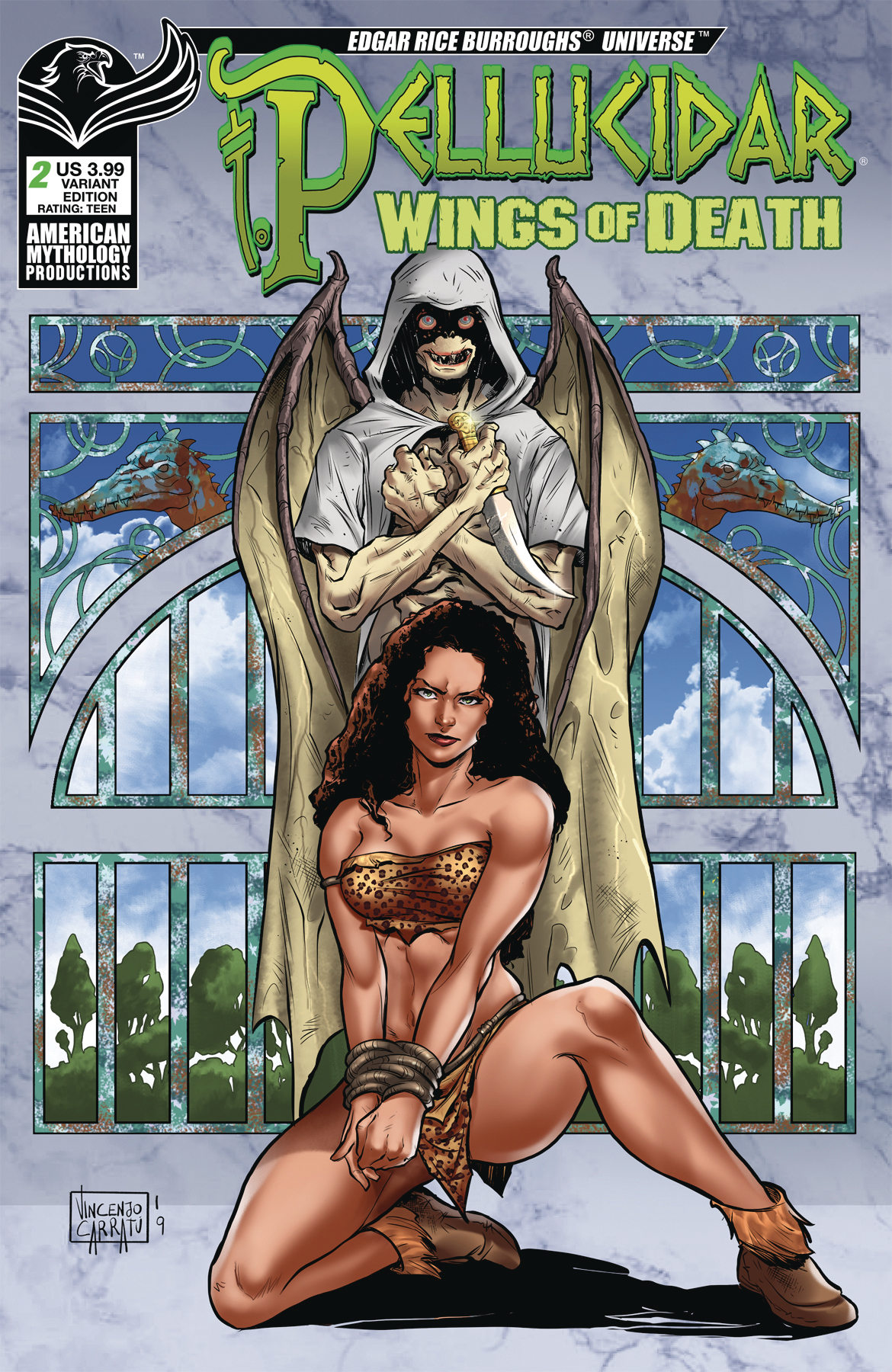 PELLUCIDAR WINGS OF DEATH #2 CVR B CARRATU