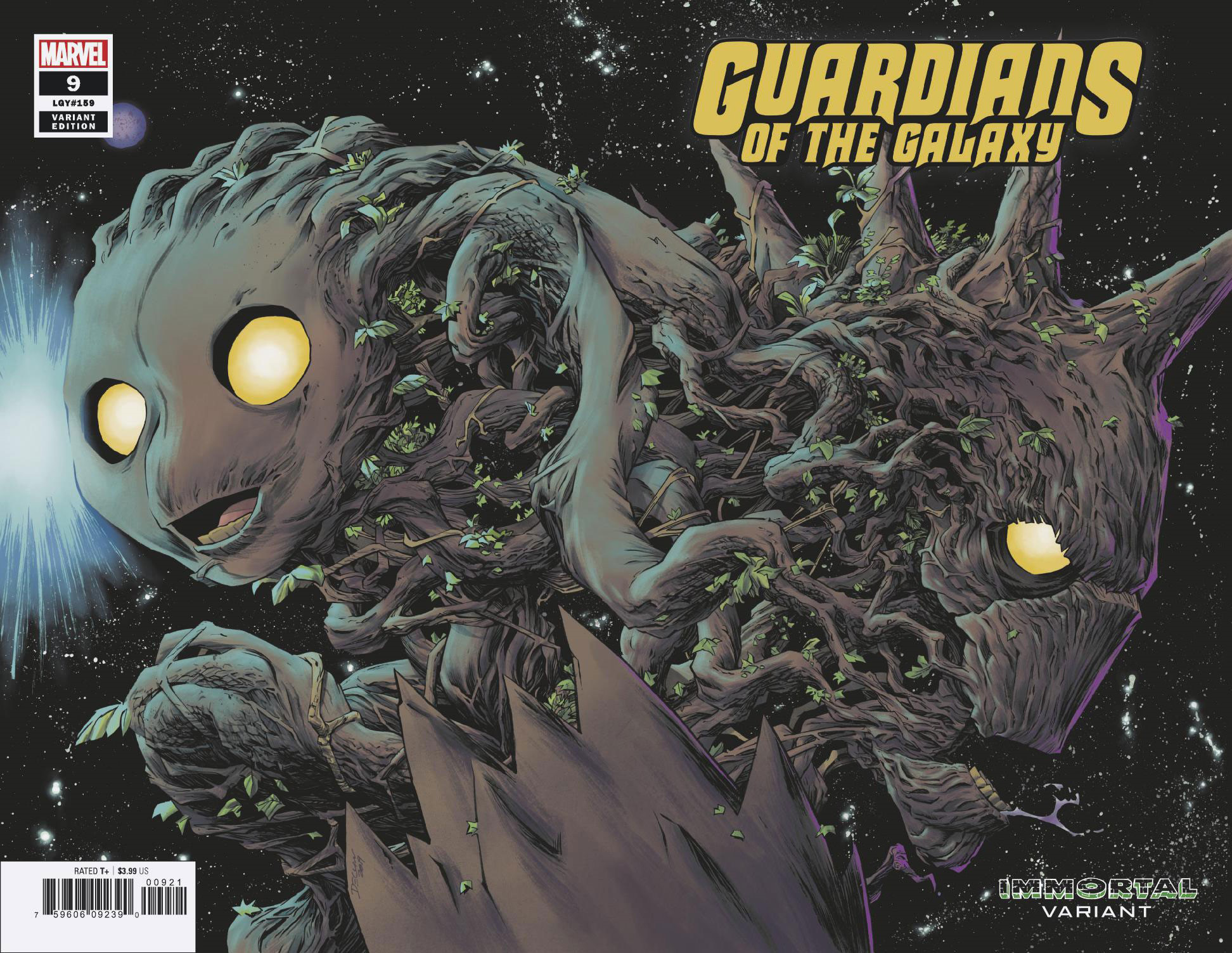 GUARDIANS OF THE GALAXY #9 SHALVEY IMMORTAL WRAPAROUND VAR
