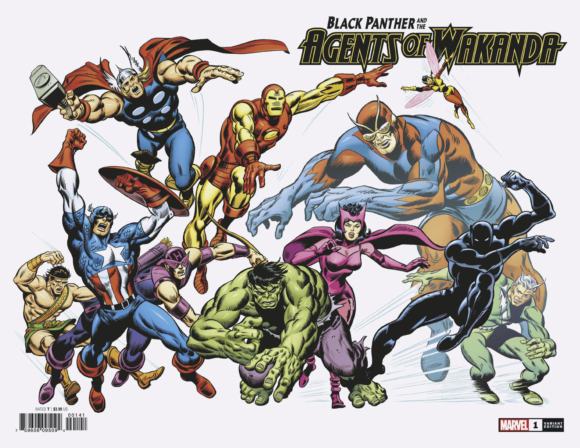 BLACK PANTHER AND AGENTS OF WAKANDA #1 BUSCEMA HIDDEN GEM VA