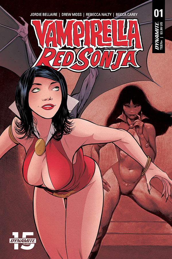 VAMPIRELLA RED SONJA #1 CVR E MOSS THEN NOW